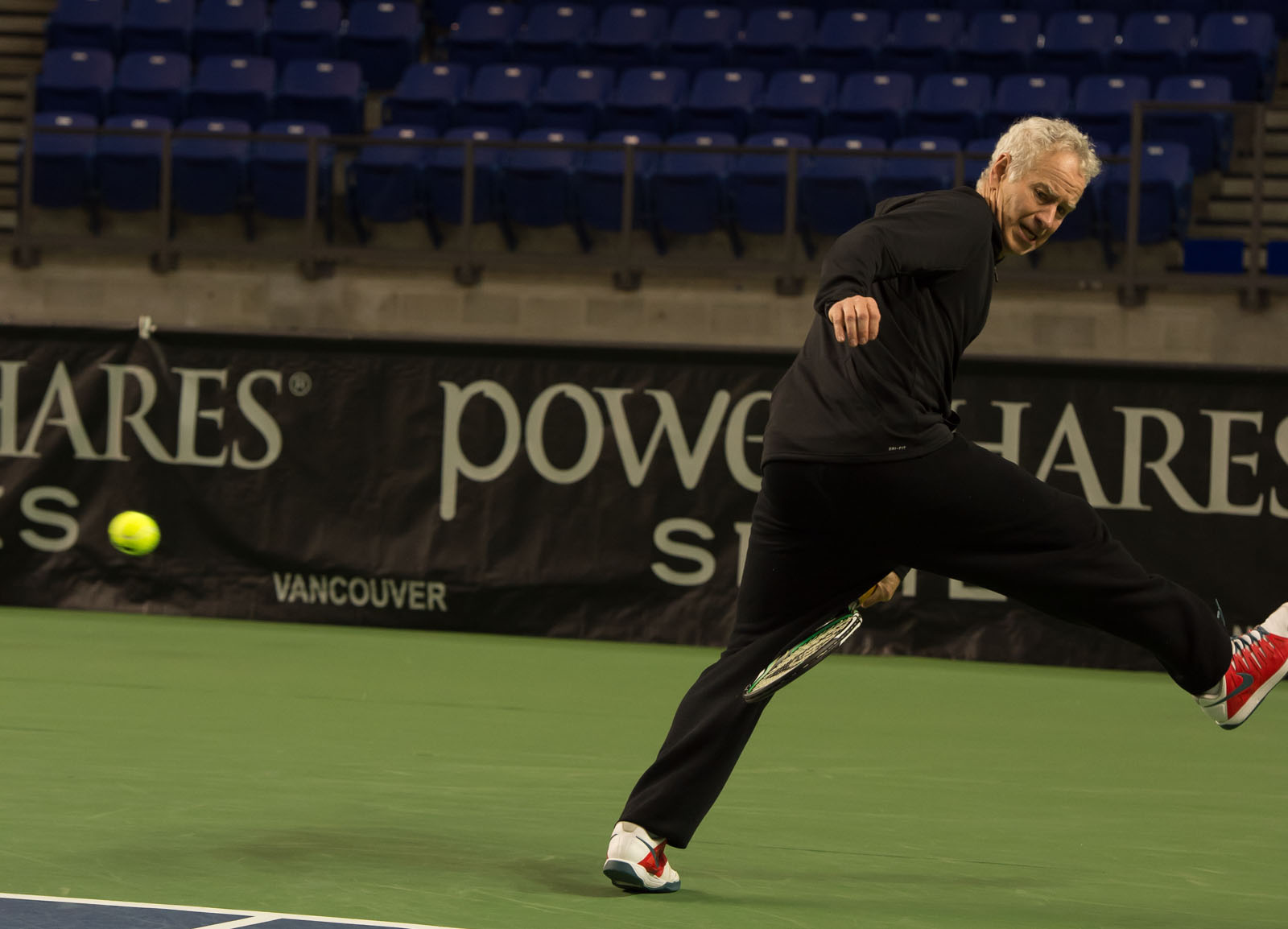 Tennis legend John McEnroe proves he's still got the goods at 56.