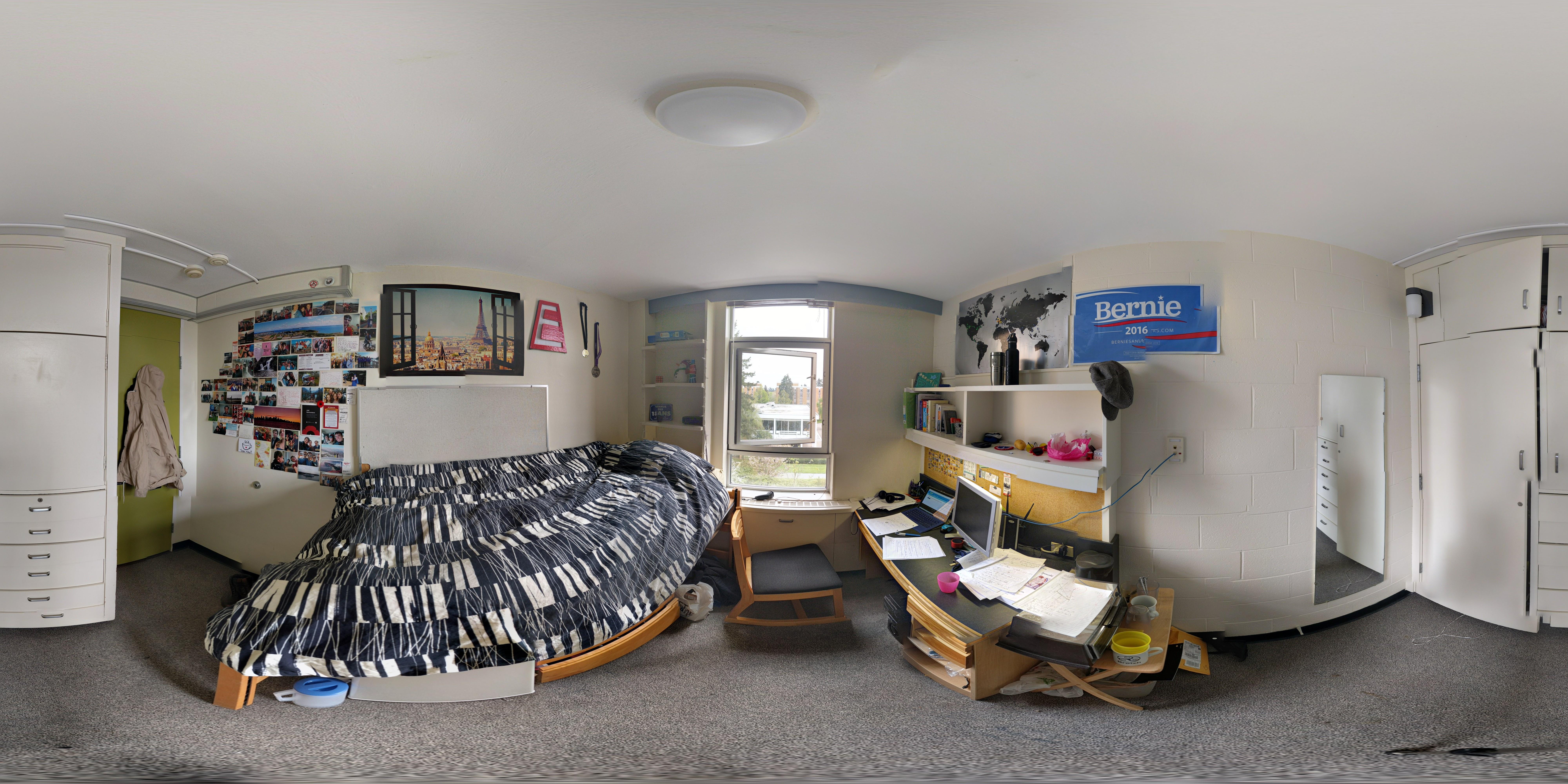 Totem Park residence room.