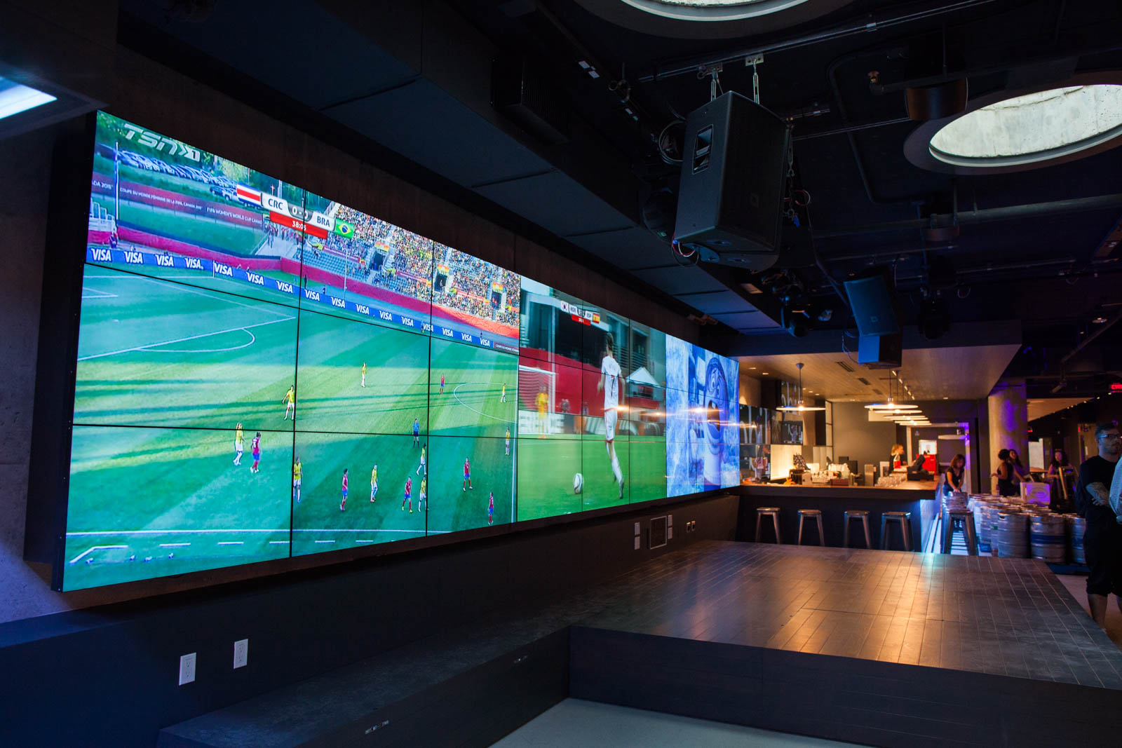 The Pit is hosting more viewings of sporting events to capitalize on the big screens.