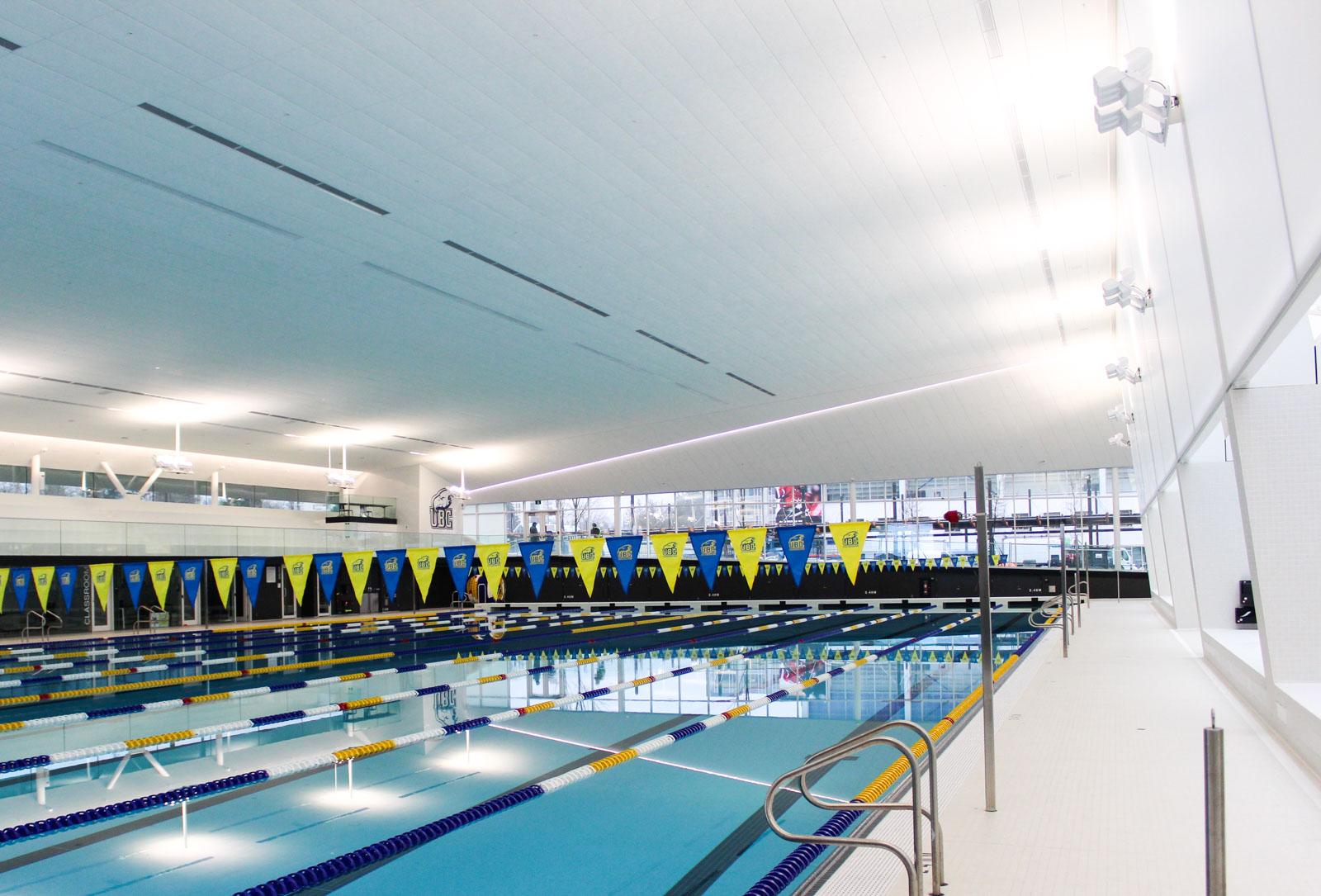 The UBC Aquatic Centre hosts daily public swims.