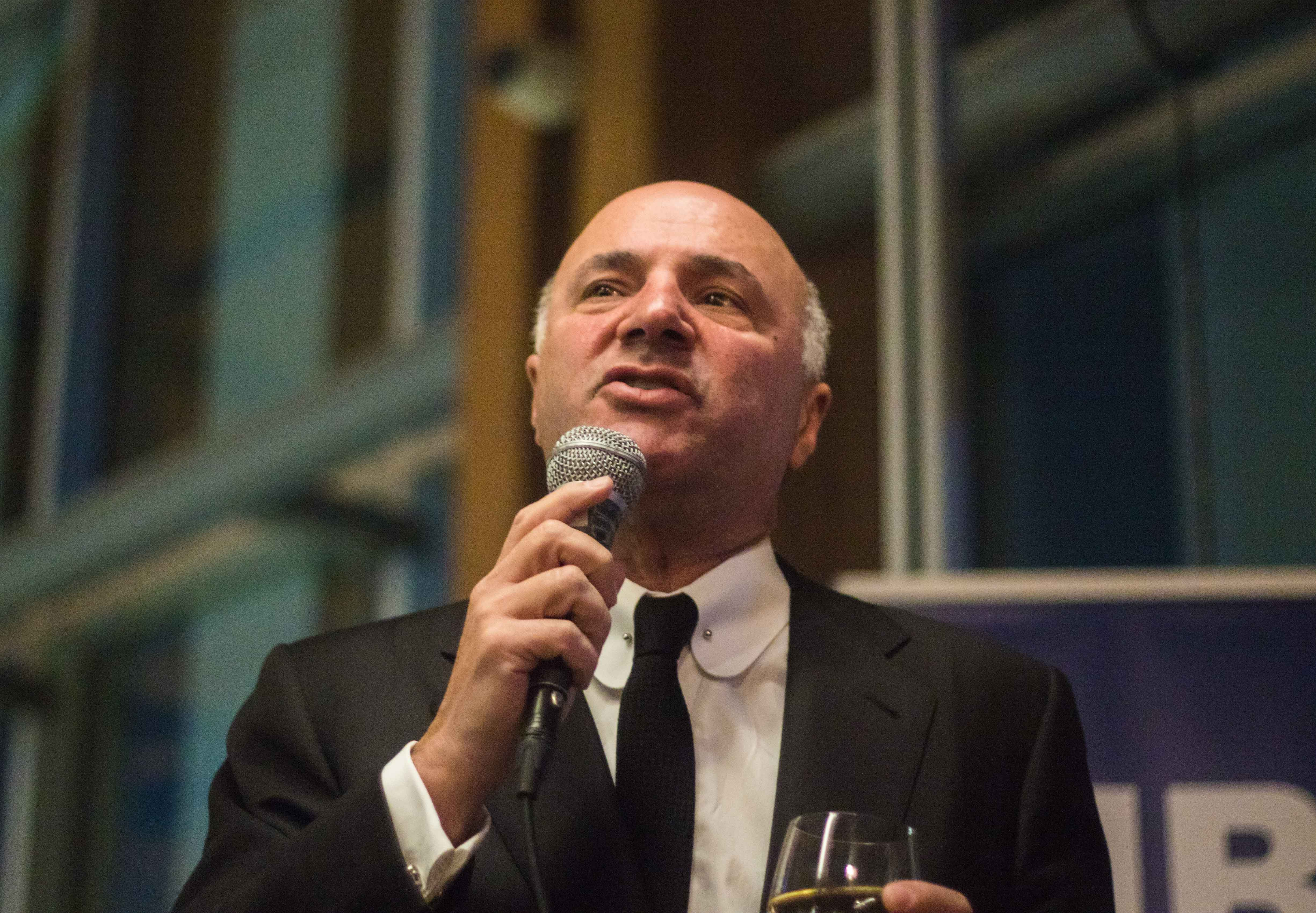 O'Leary speaks to UBC students Thursday night at the Gallery, a campus pub.