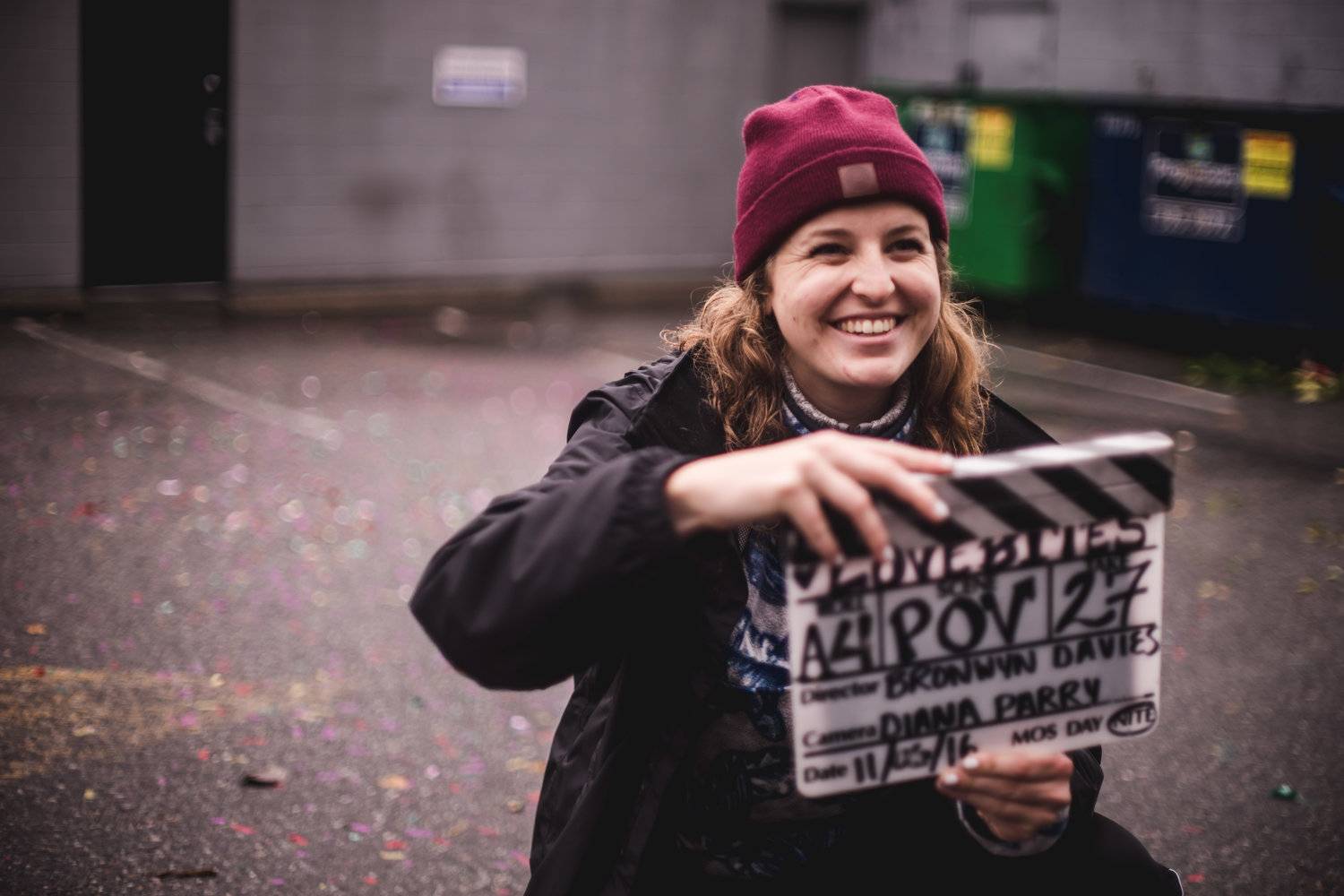 "Director Bronwyn Davies on the set of ""Love Bites."""