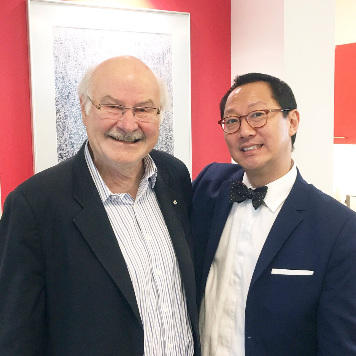 Harcourt with UBC President and Vice-Chancellor Santa J. Ono