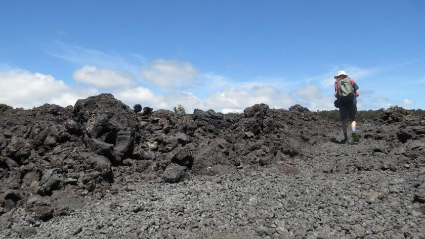 Artists Coles and Scharein visited the lunar-like landscapes of Mauna Kea.