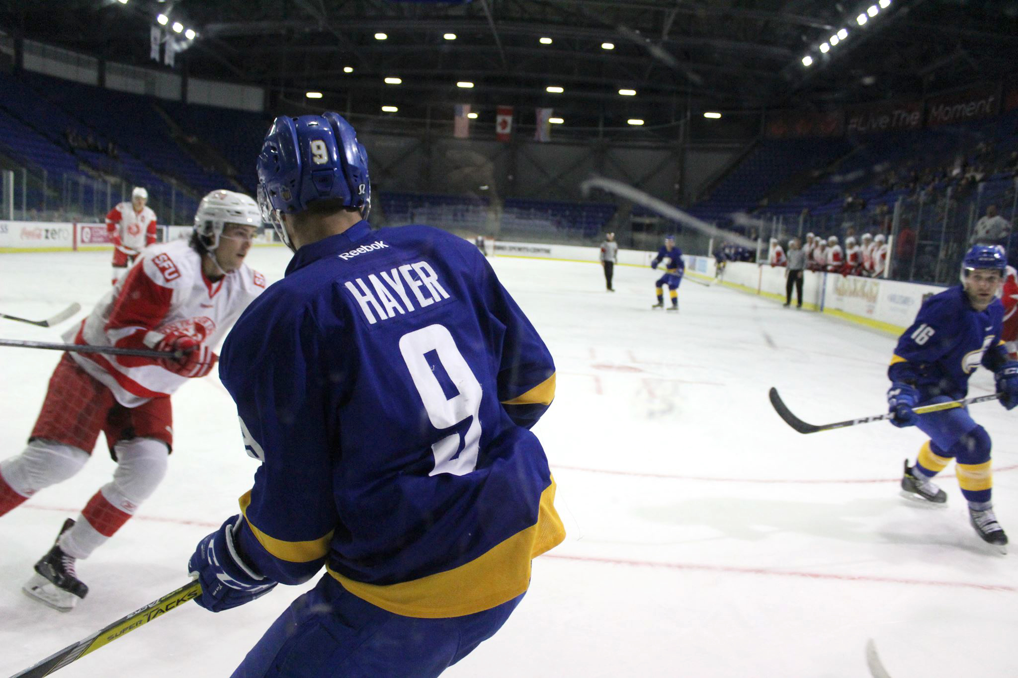 Hayer, now in his fourth year of eligibility with the T-Birds, scored twice in the game.