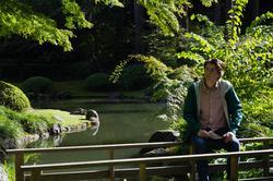 Blog photo of Tristan in Nitobe Gardens