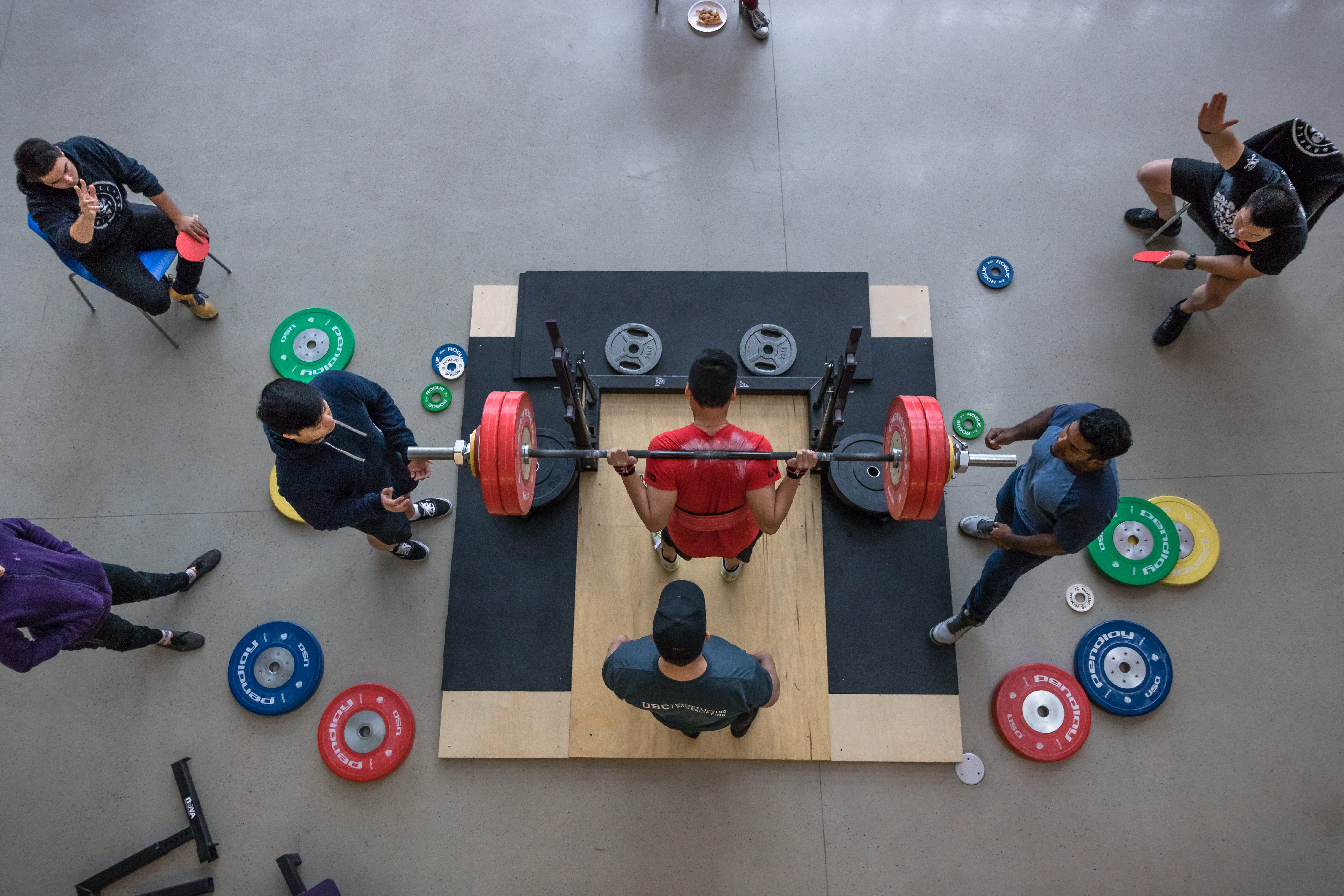 The 6th Annual Weightlifting and Powerlifting Meet was held in the atrium of the Nest.