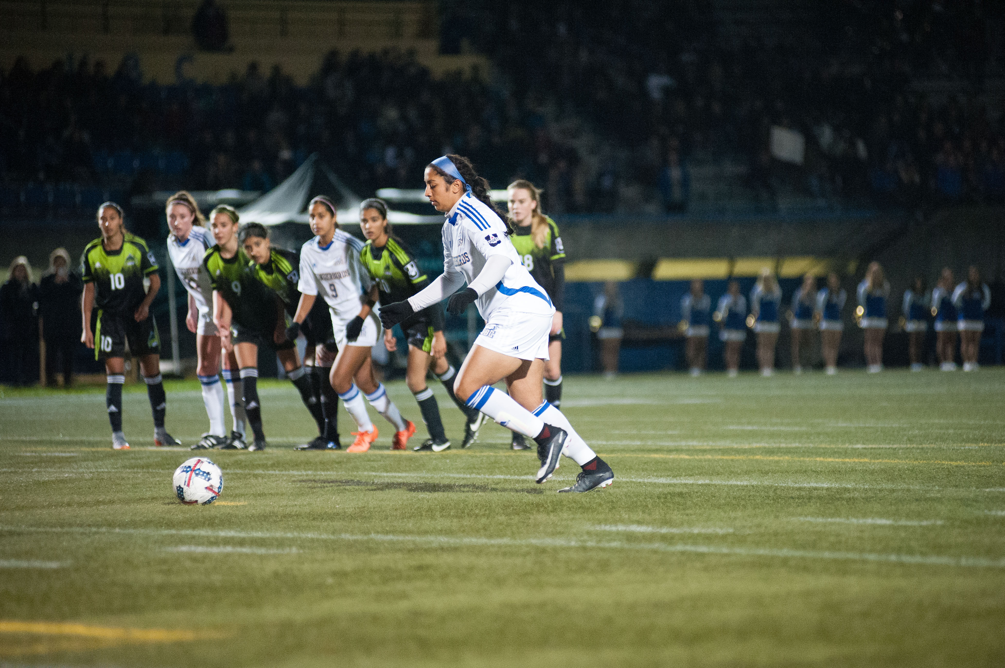 Aman Shergill scored two of UBC's three goals at Thunderstruck.