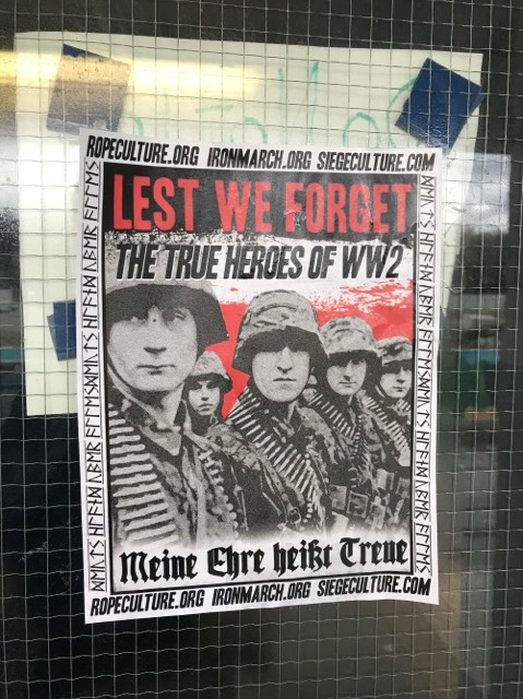 A poster found on an entrance of War Memorial Gym.