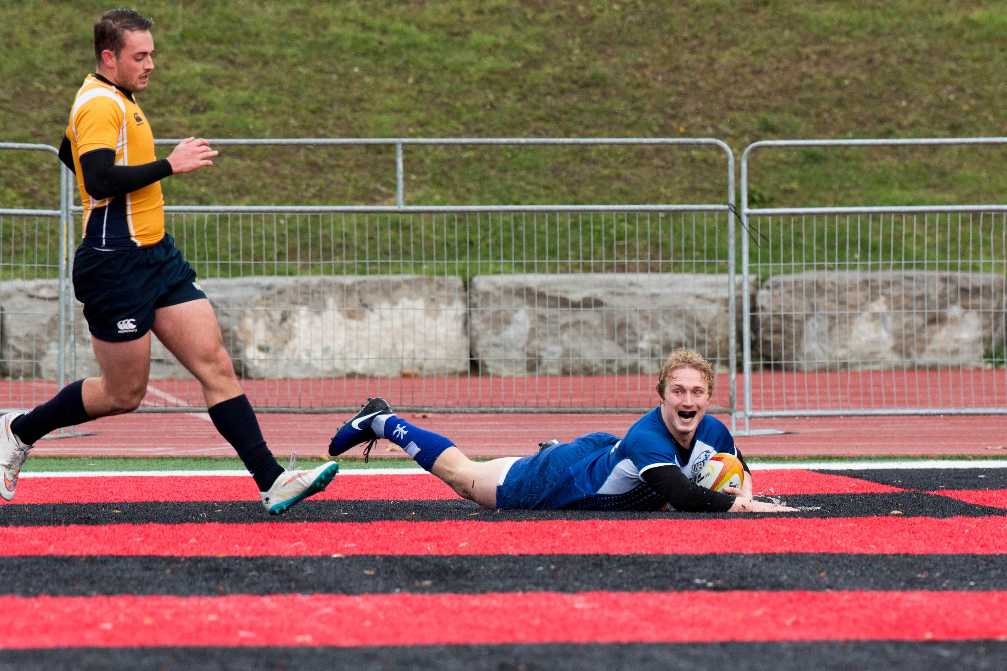 Cole Keffer scored one of UBC's tries in this year's championship final.