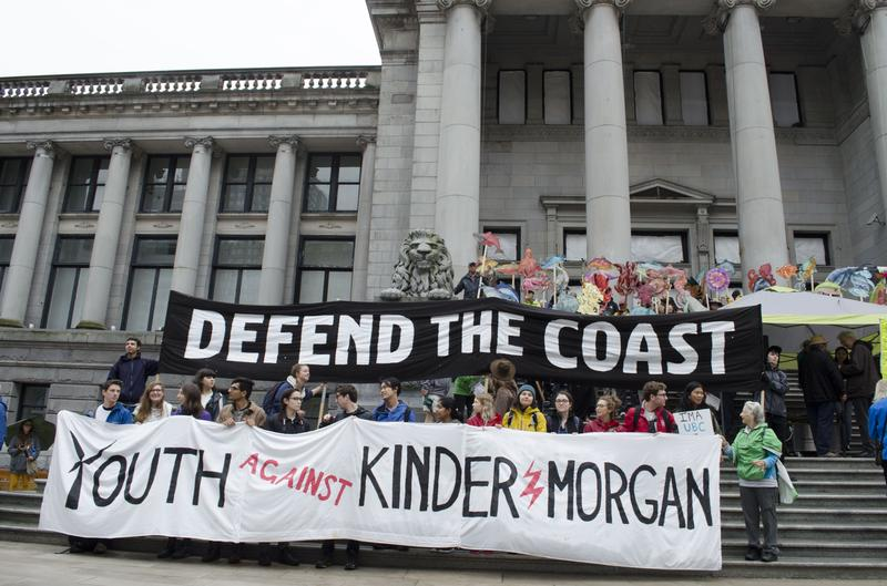 The protest against Kinder Morgan Trans Mountain pipeline expansion on September 10.