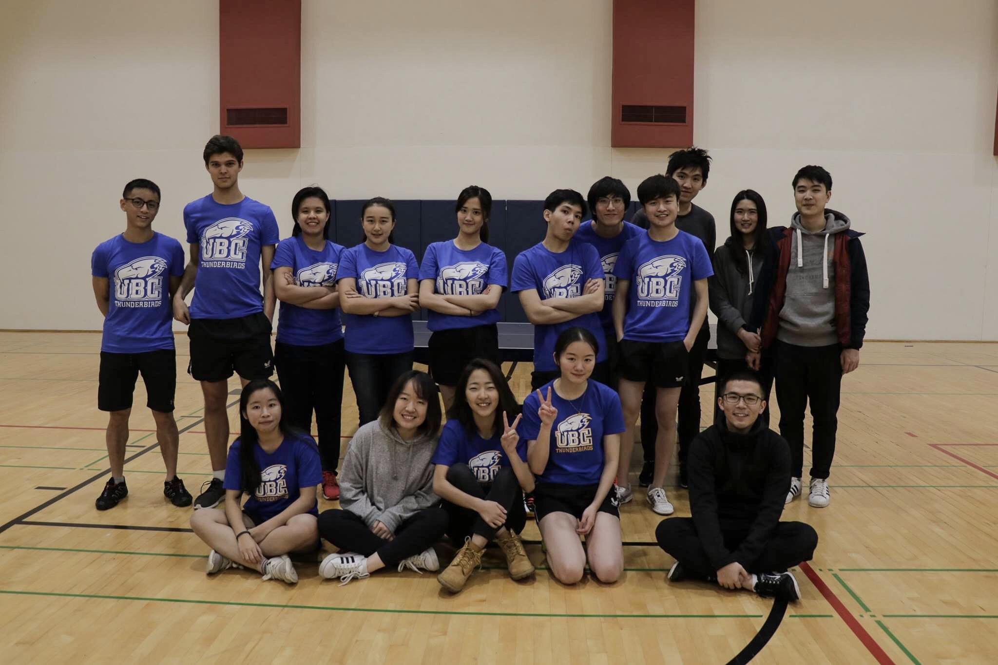 UBC's table tennis team.