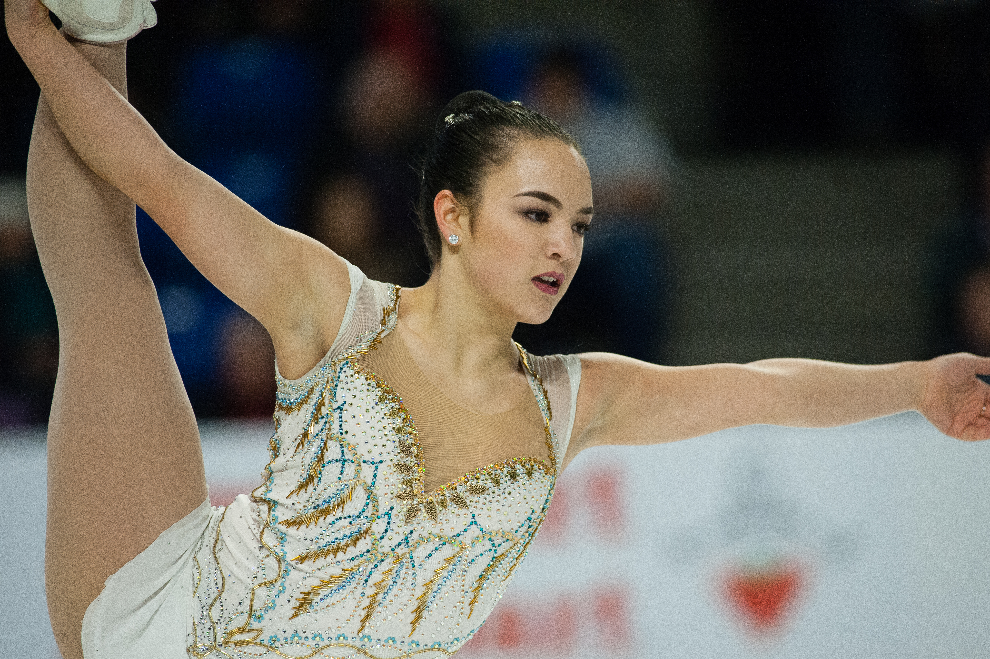 Alberta's Triena Robinson skates in the women's short program.