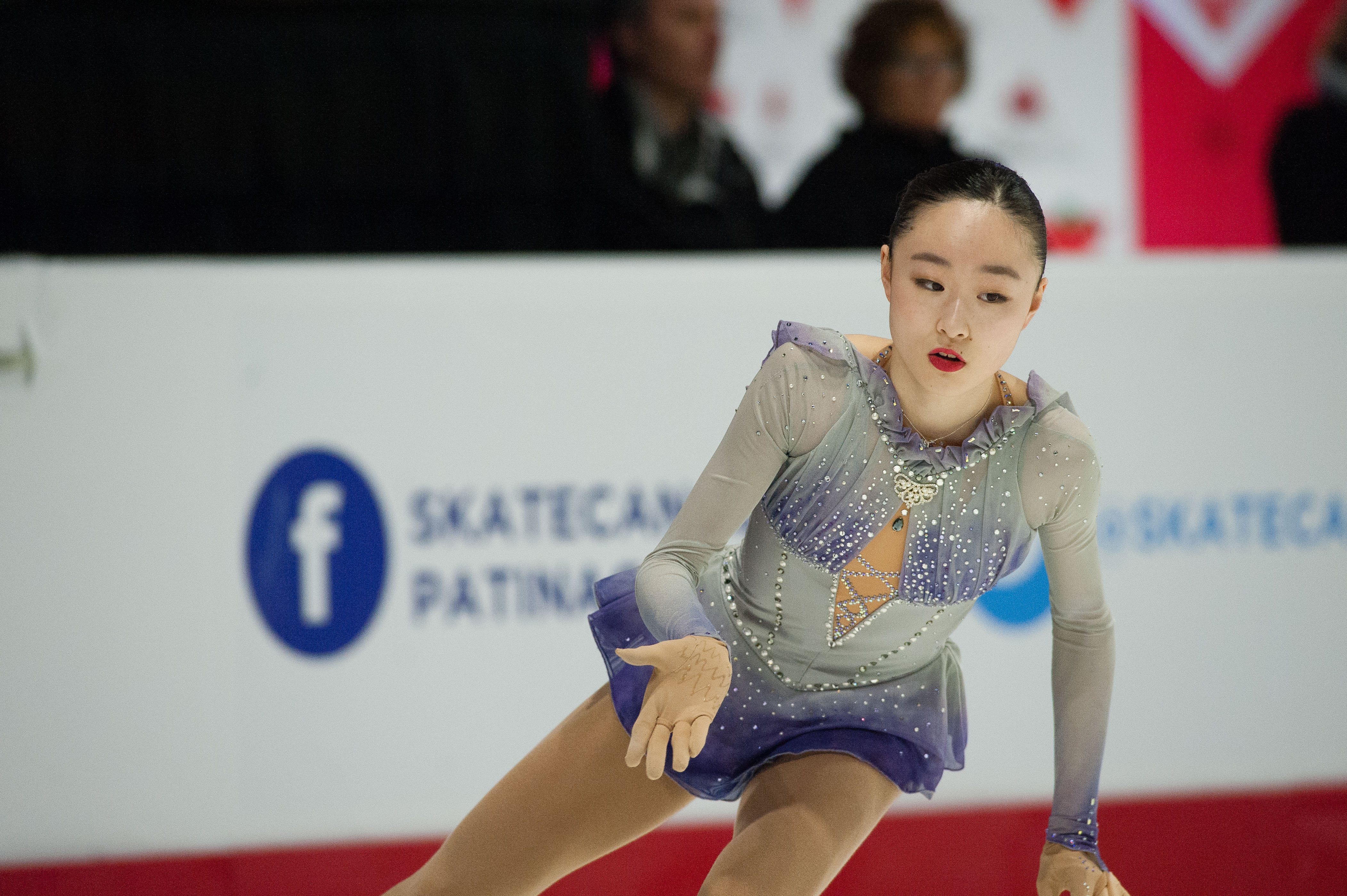 Vancouver's Sarah Tamura performs in the short program.