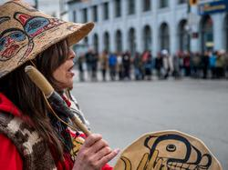 March for missing & murdered Indigenous women, Downtown Eastside, 14 February 2018