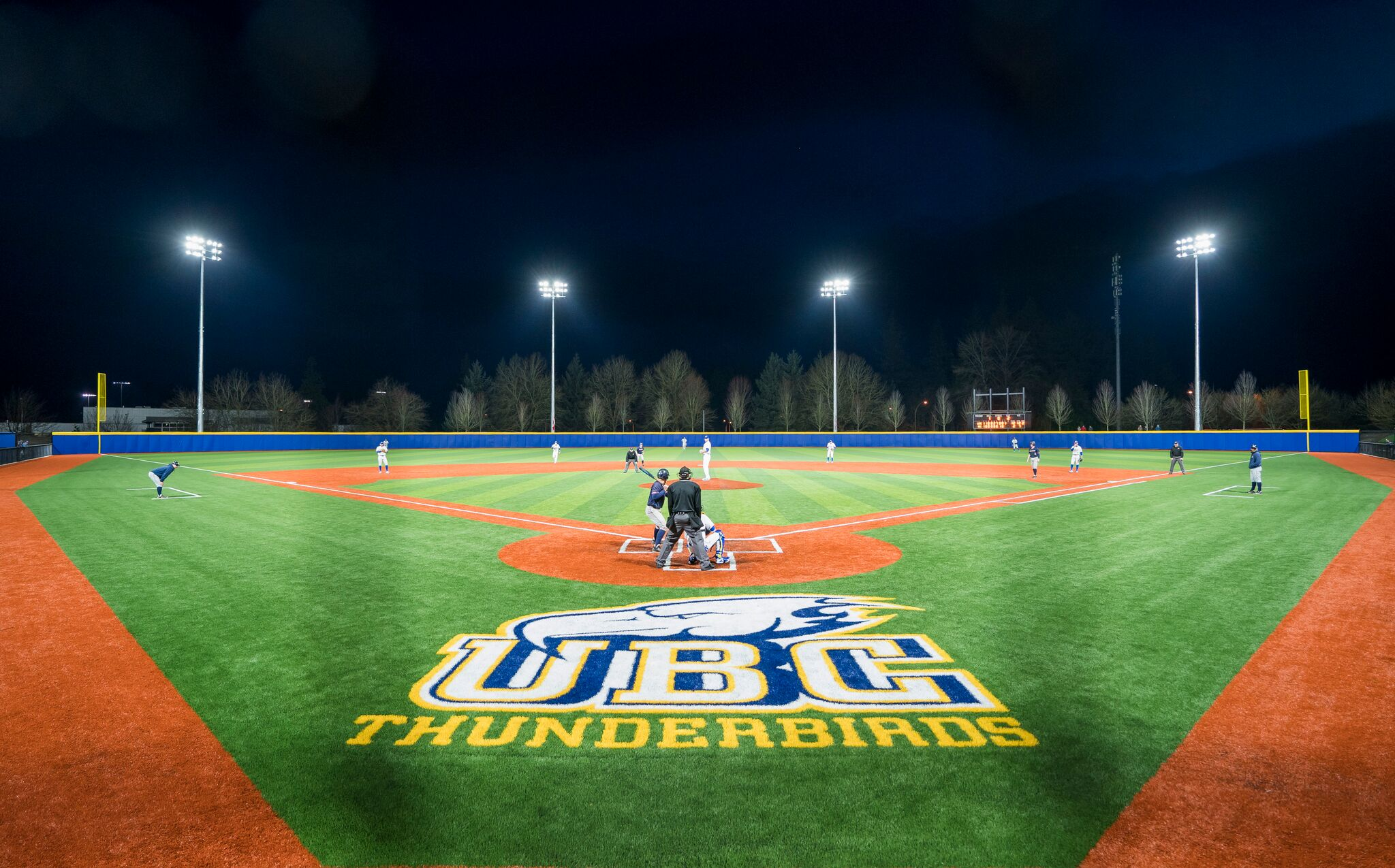 UBC baseball playing on their new diamond.