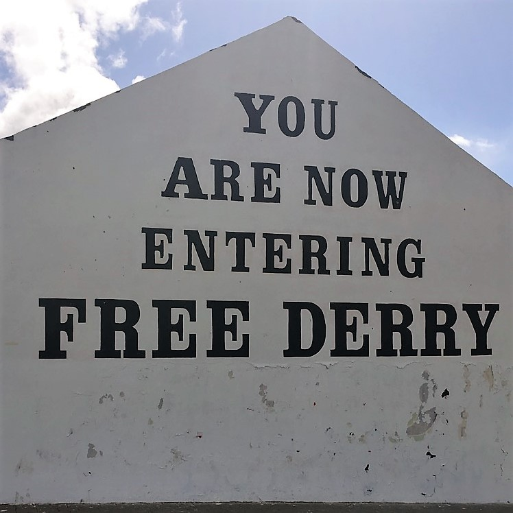 "The infamous ""Free Derry"" mural in Derry."