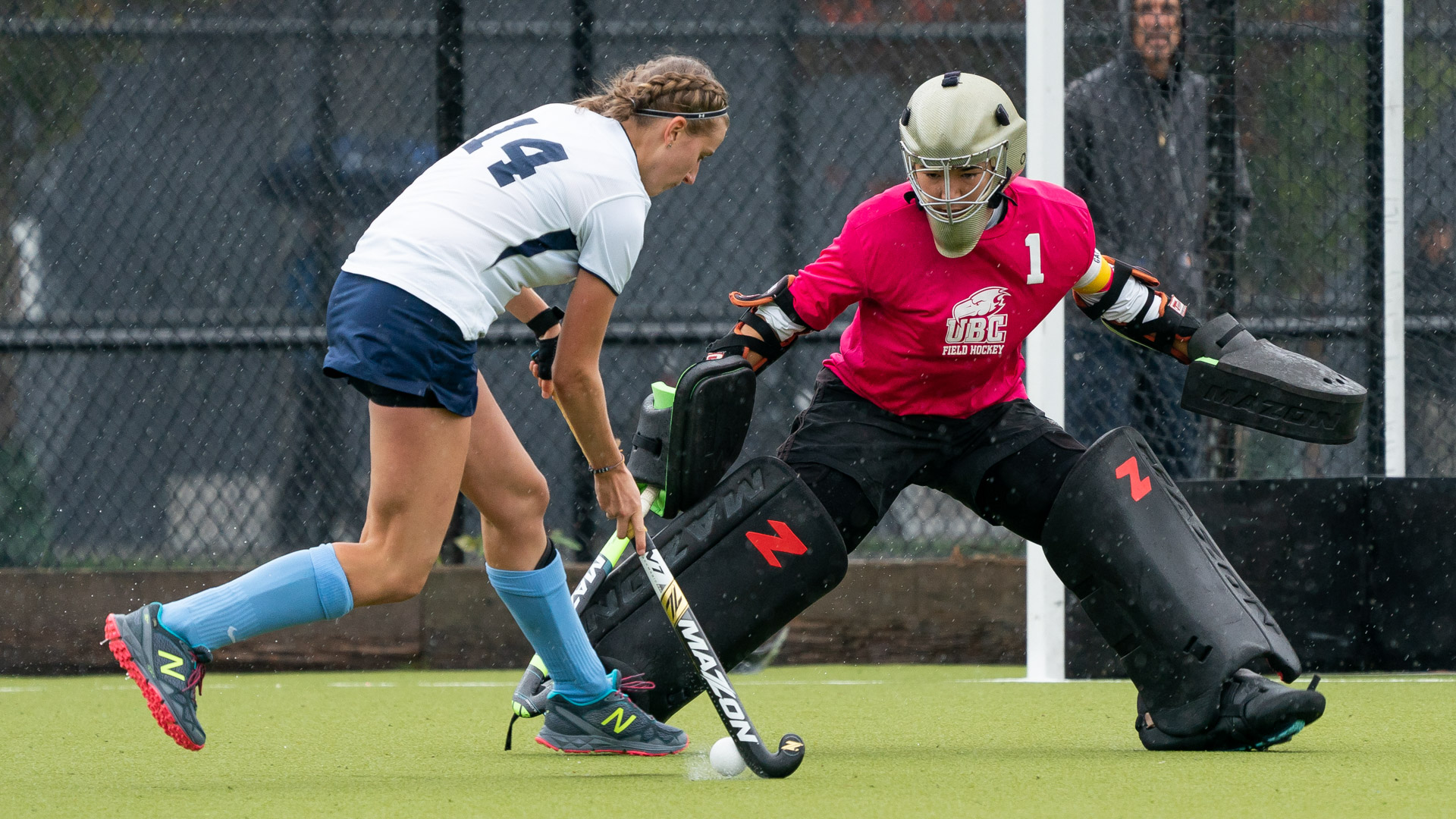 Veteran keeper Rowan Harris led the 'Birds to multiple U Sports National Championships