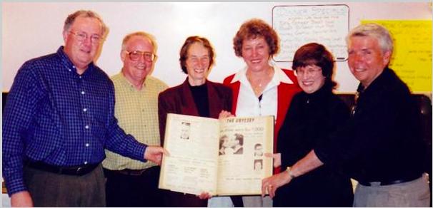 Group photograph at 1999 Ubyssey reunion