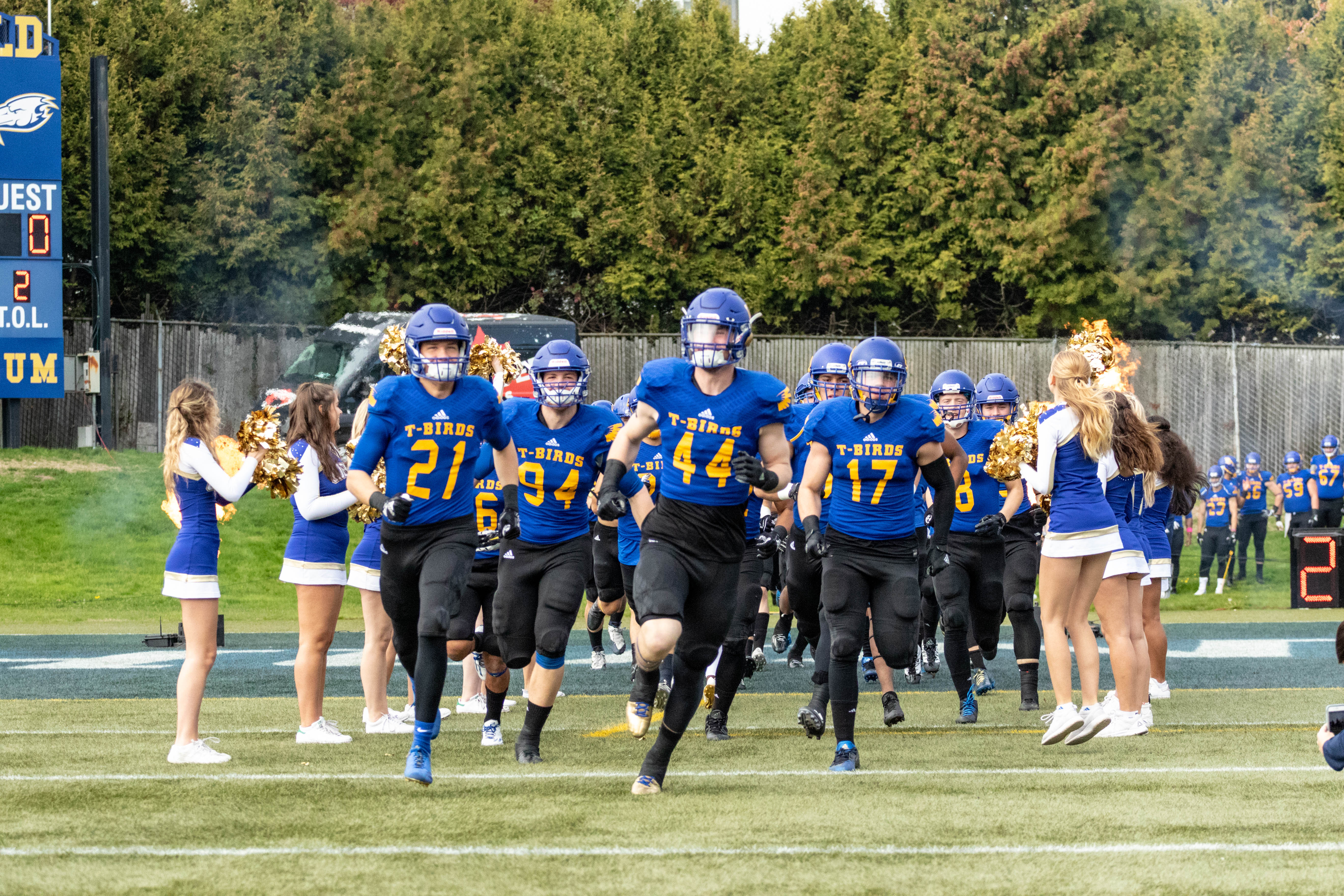 UBC football takes the field.