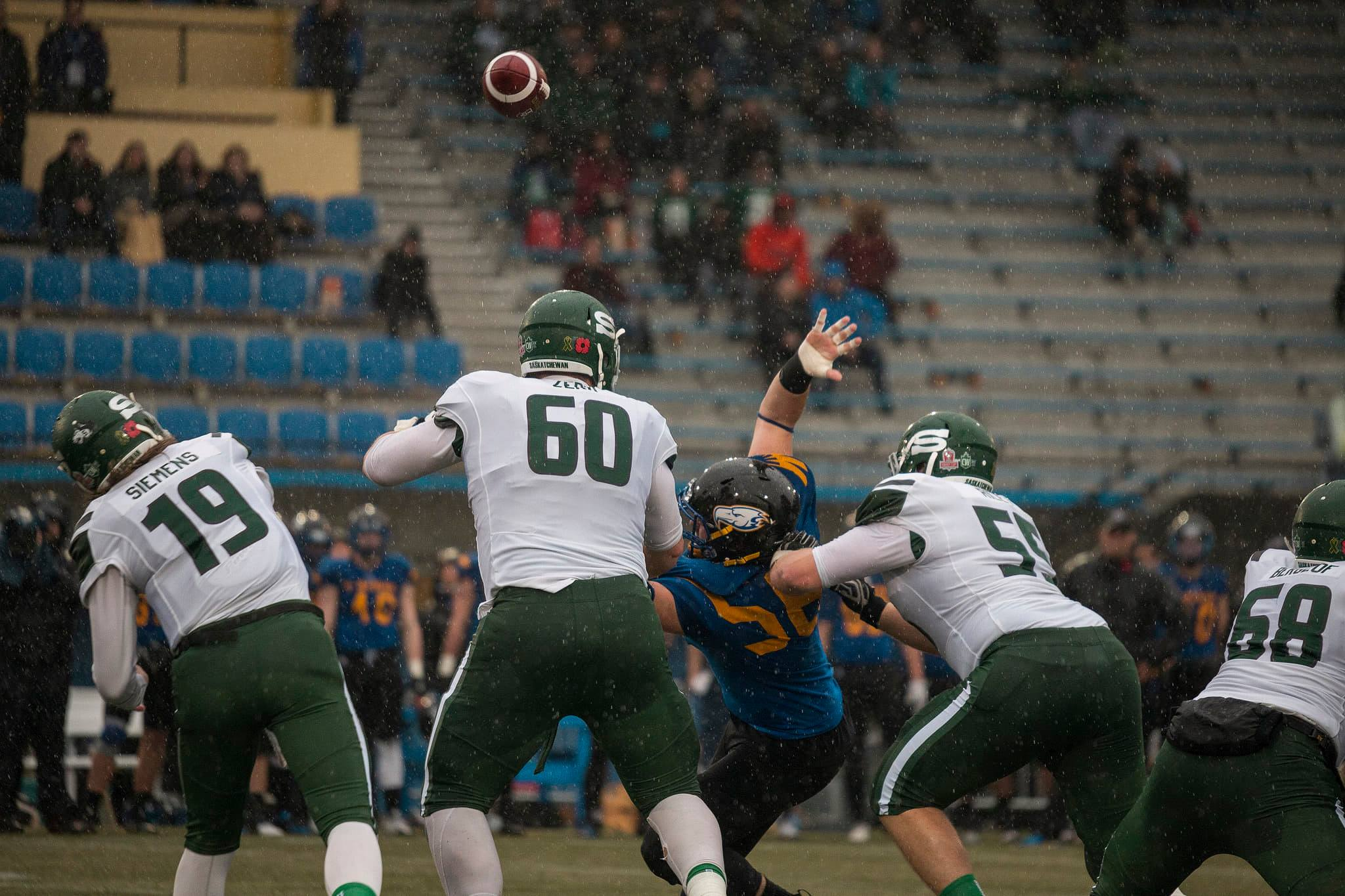 UBC football let the game slip through their hands on Saturday.
