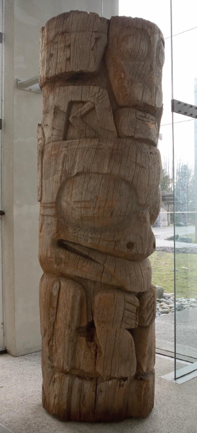 Haida Mortuary Pole from SGang Gwaay (MOA A50017), circa 2001