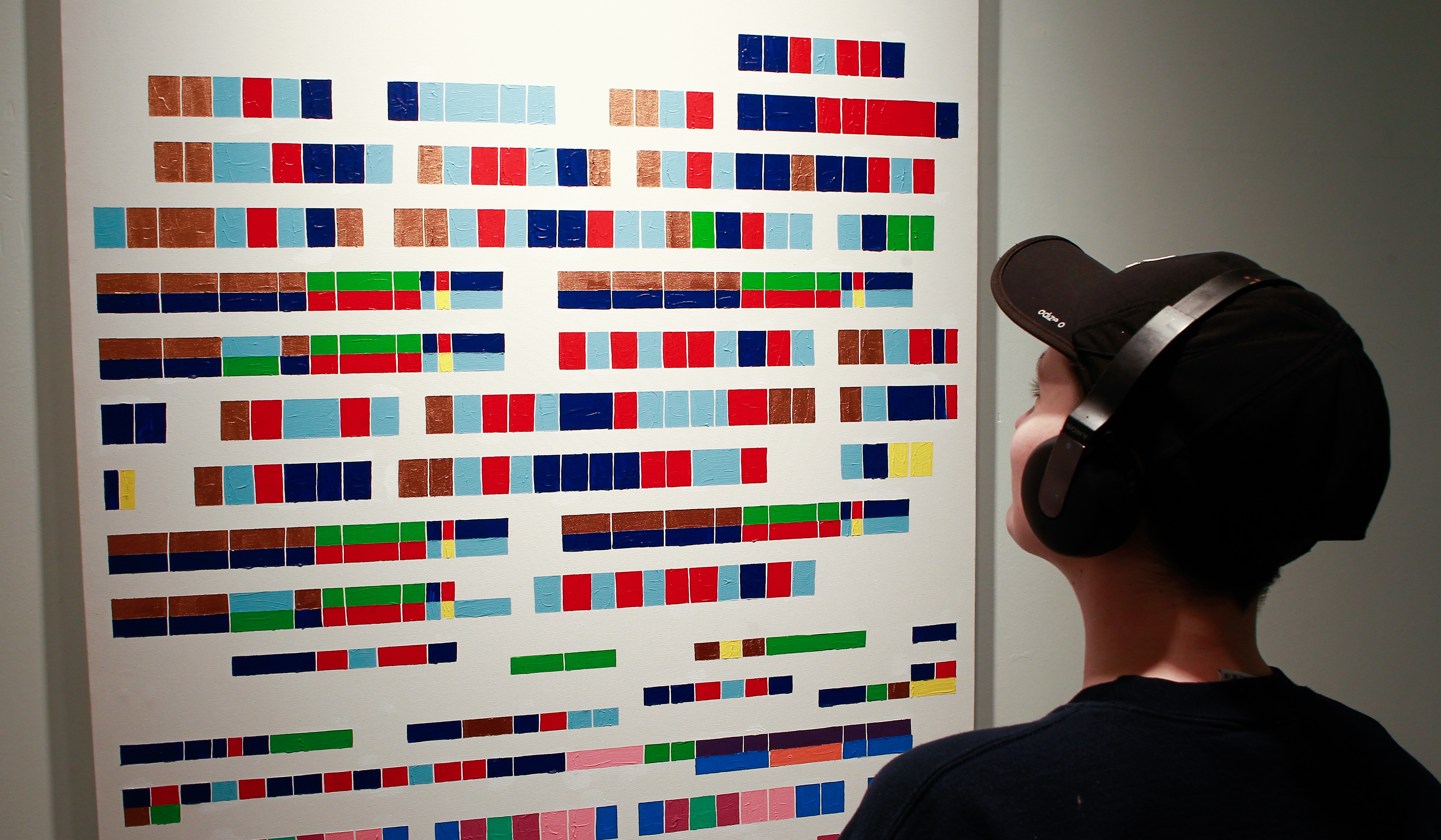 "Colour frequency, as Beau described, is where she translates ""sheet music into colour so it's a whole piece of music on one canvas from start to finish."""