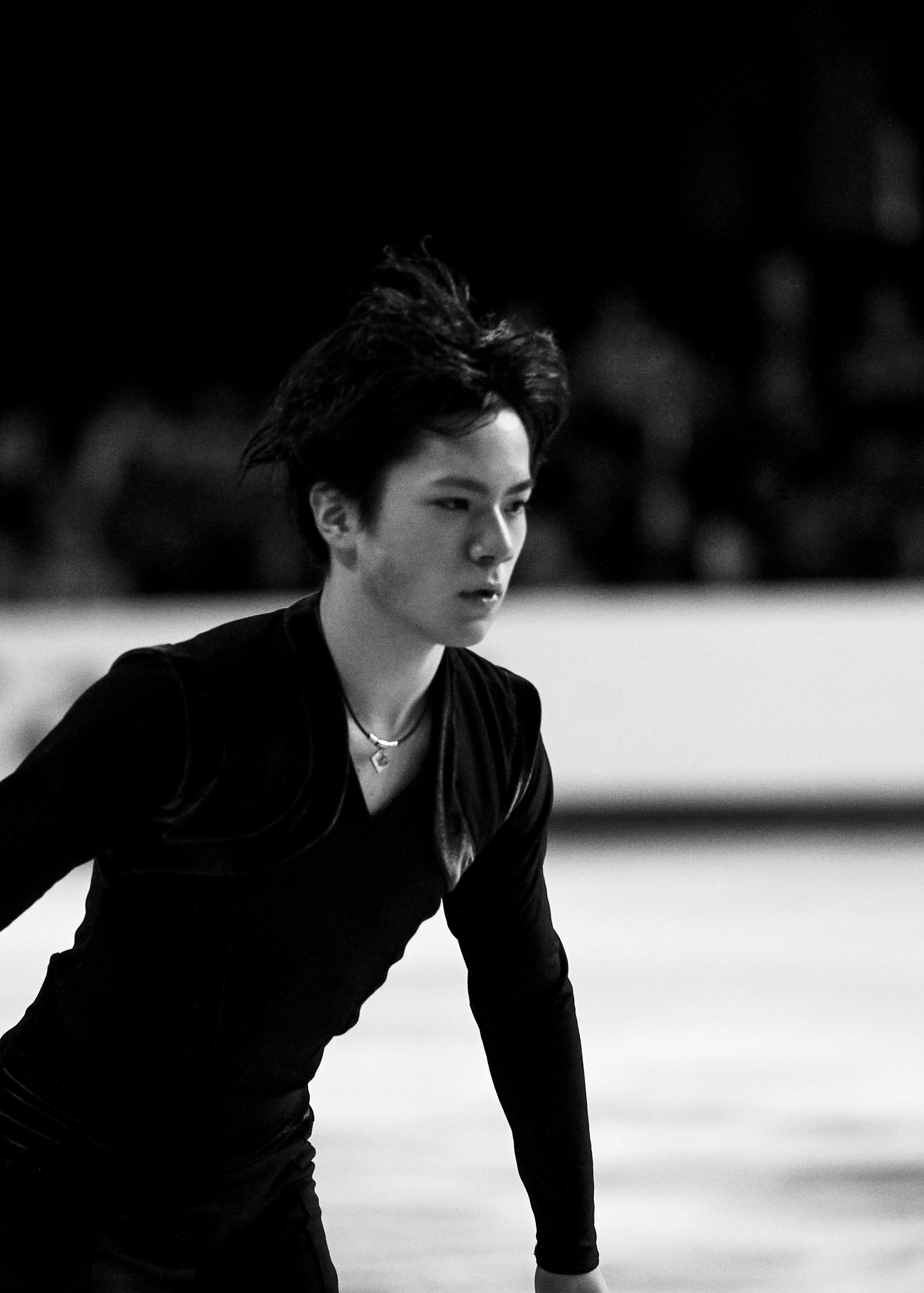 Senior men's skater Shoma Uno of Japan.