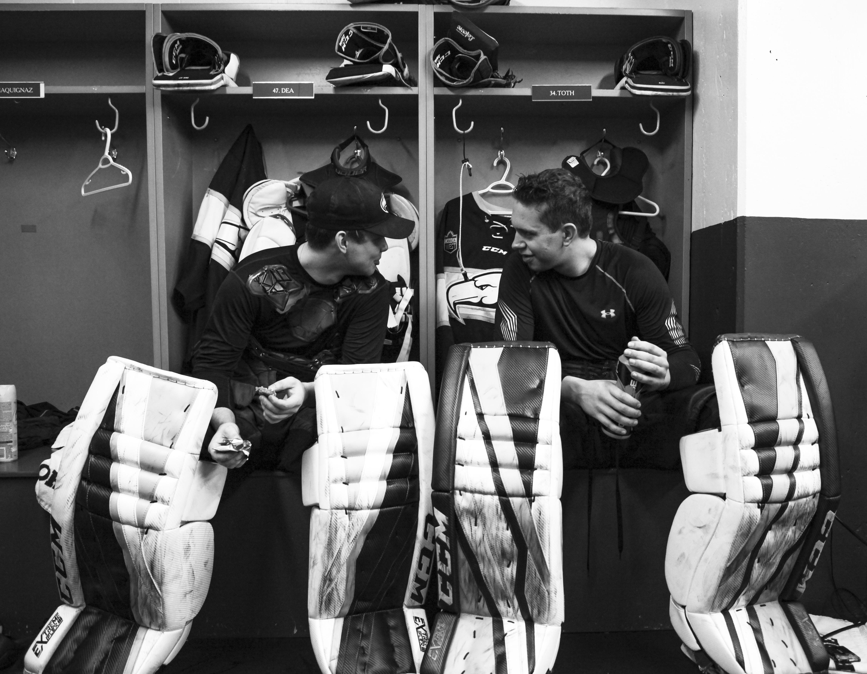 UBC's goaltending duo talk pre-game.