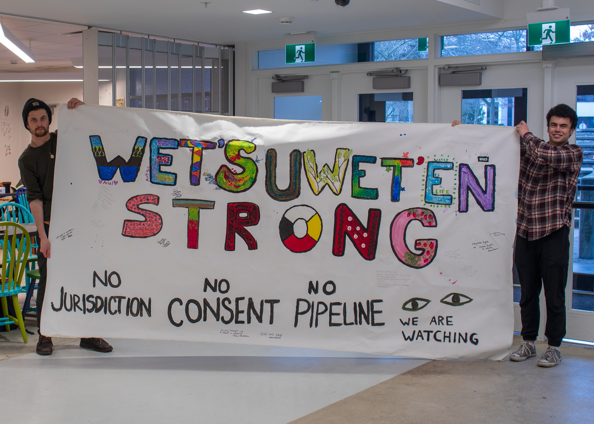 Indigenous student groups raised $750 to support the Wet'suwet'en legal defence fund through their art event.