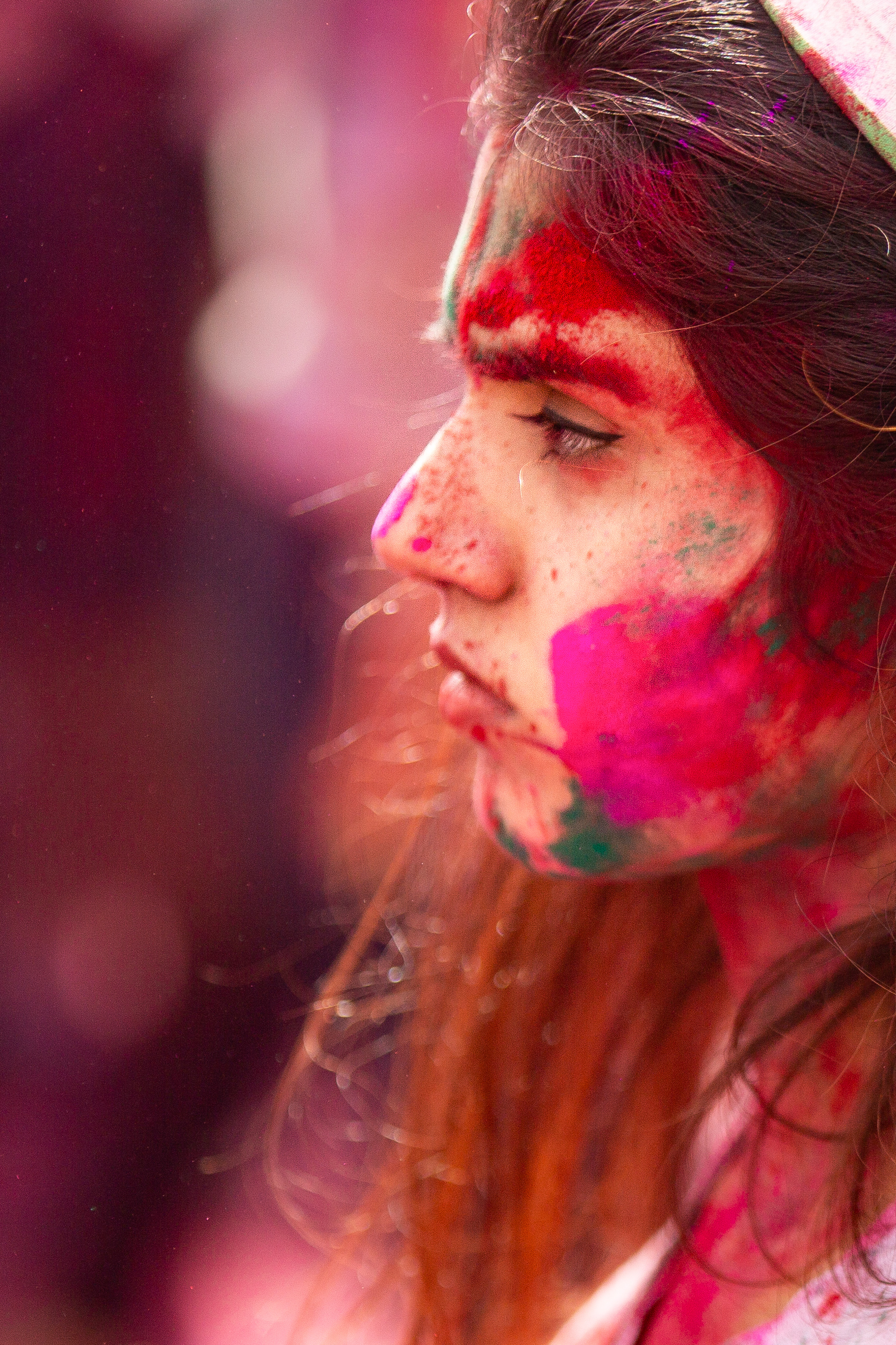 Holi is one of the most popular cultural celebrations on campus. This year, more than 3,000 people participated in the event.