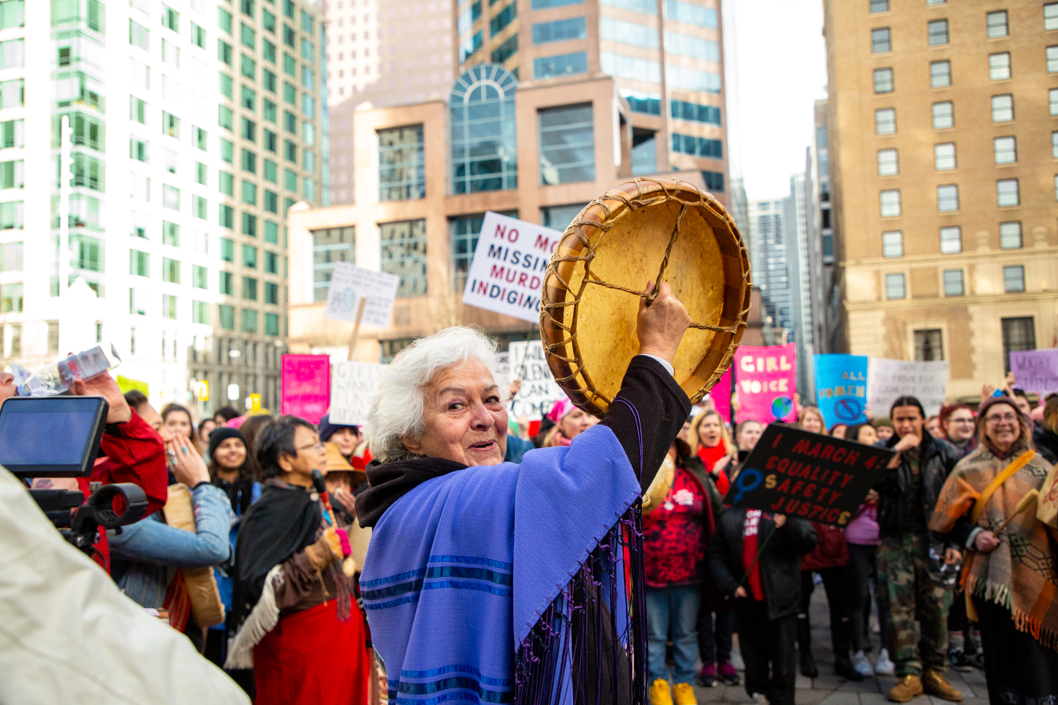 Two years after the first march in response to Donald Trump's inauguration, the Women's March in Vancouver remains part of a global movement — but had not yet shifted its focus inwards to Canada. The rally on January 19 put the spotlight on Canadian institutions and injustices.