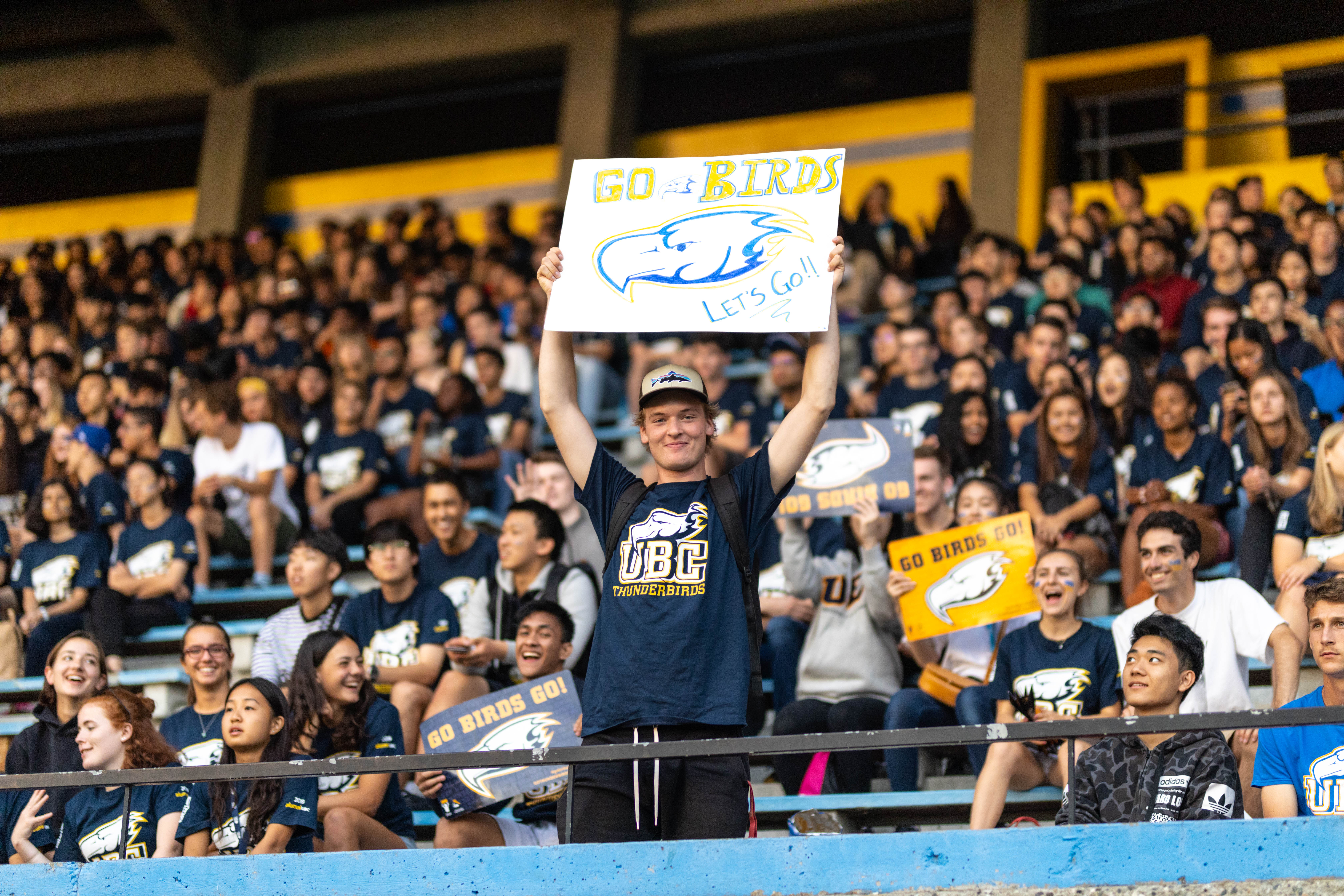 Fans were in abundance and showing some blue and gold pride