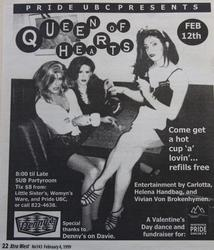 Queen of Hearts by Pride UBC February 4 1999