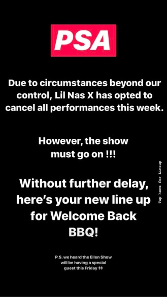 AMS Events announced the cancellation over its Instagram story.