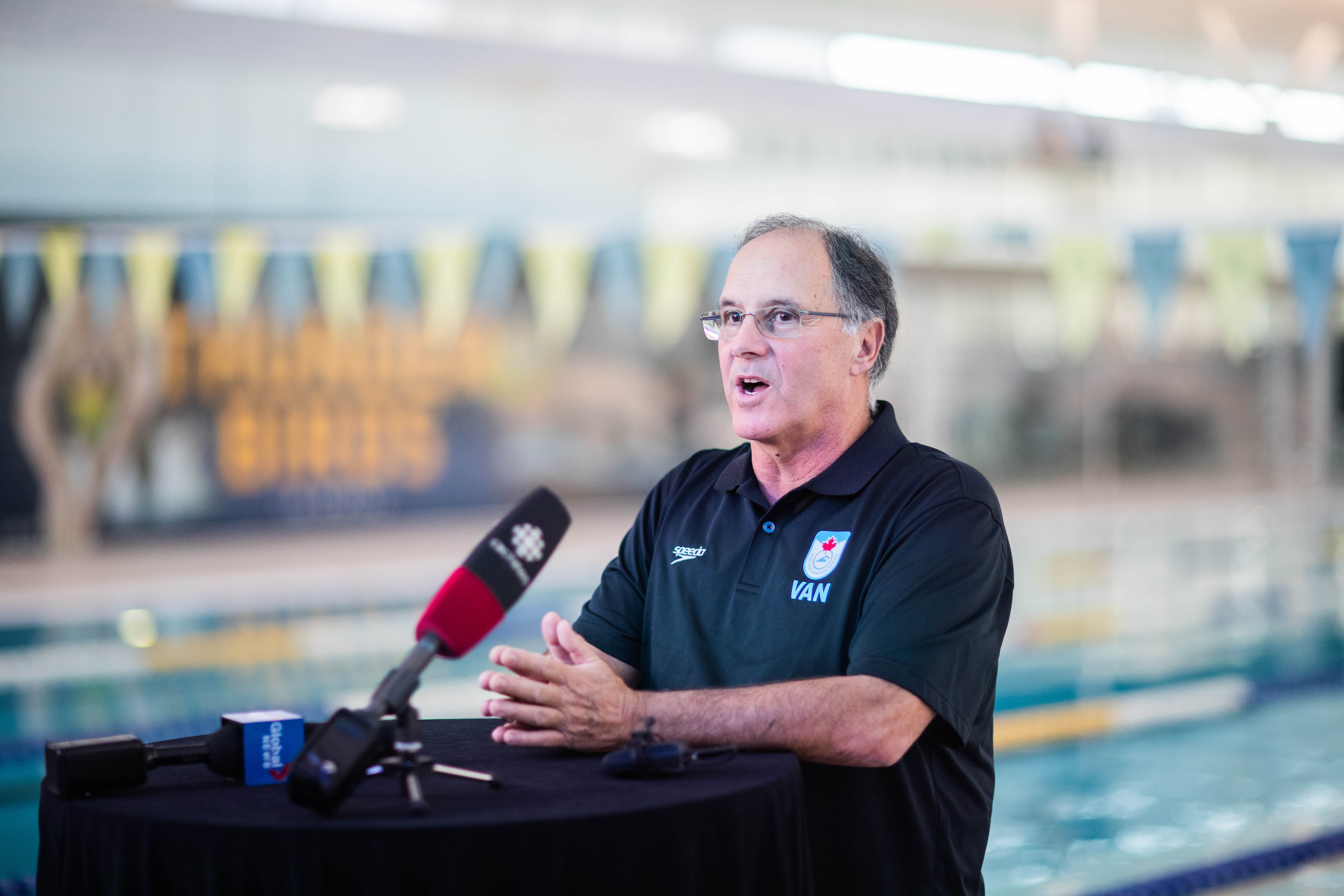 Salomon Micko BenrimohHigh Performance Centre-Vancouver head coach Tom Johnson also spoke to the media at Hayden press conferencer