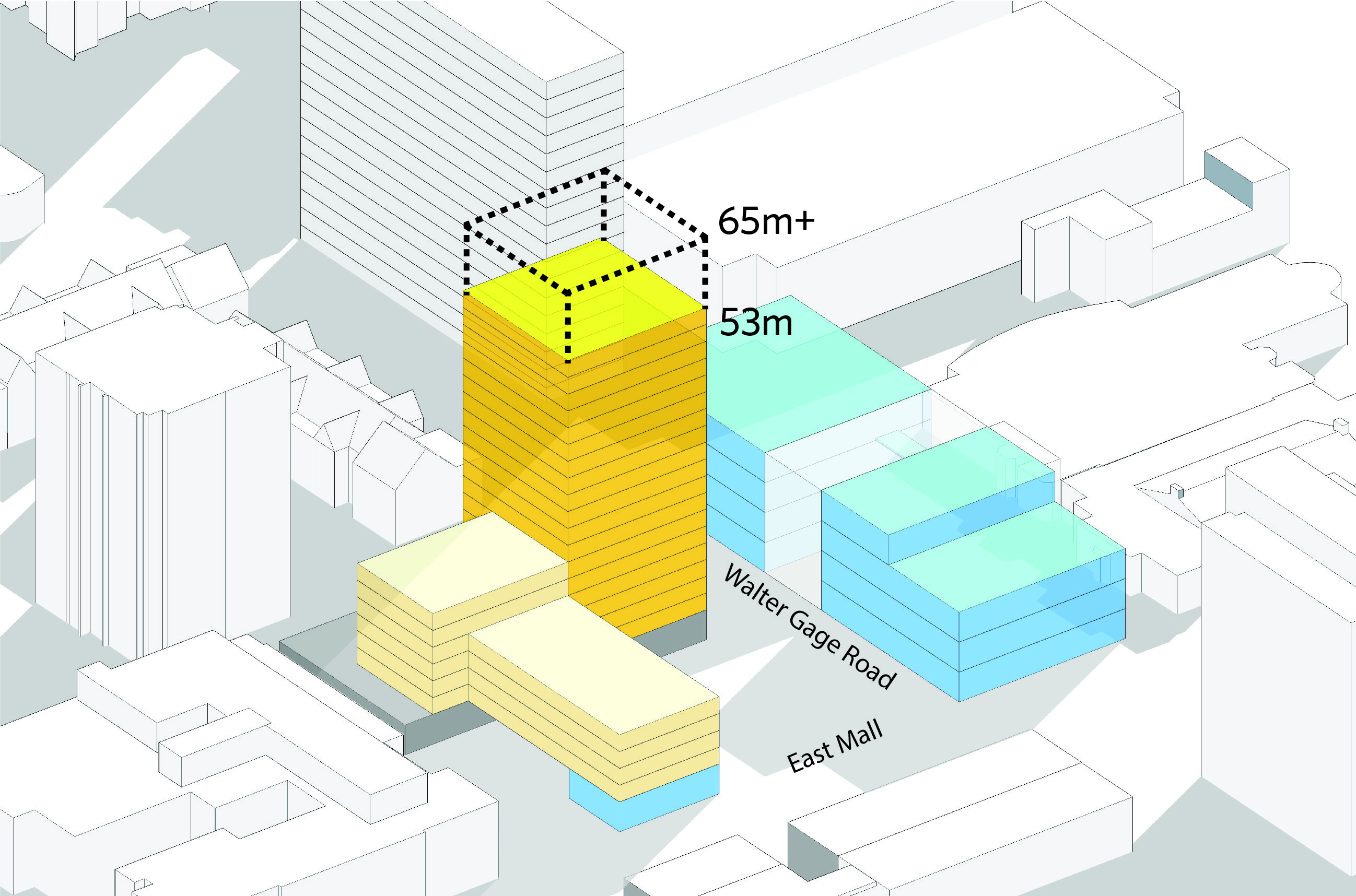UBC will be asking the province to consider increasing the height limit on academic buildings on campus through the Land Use Plan from its current limit of 53 metres or 18 stories to 65 metres or 22 stories.