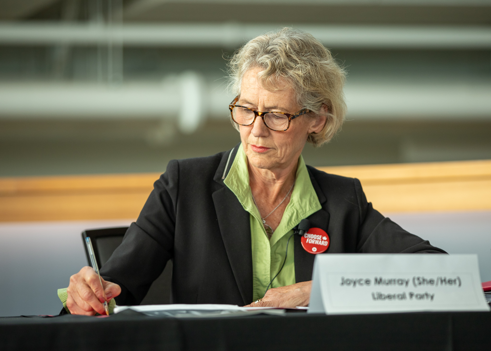 Incumbent candidate Joyce Murray argued that Liberals were still the better and most feasible alternative to Conservatives.
