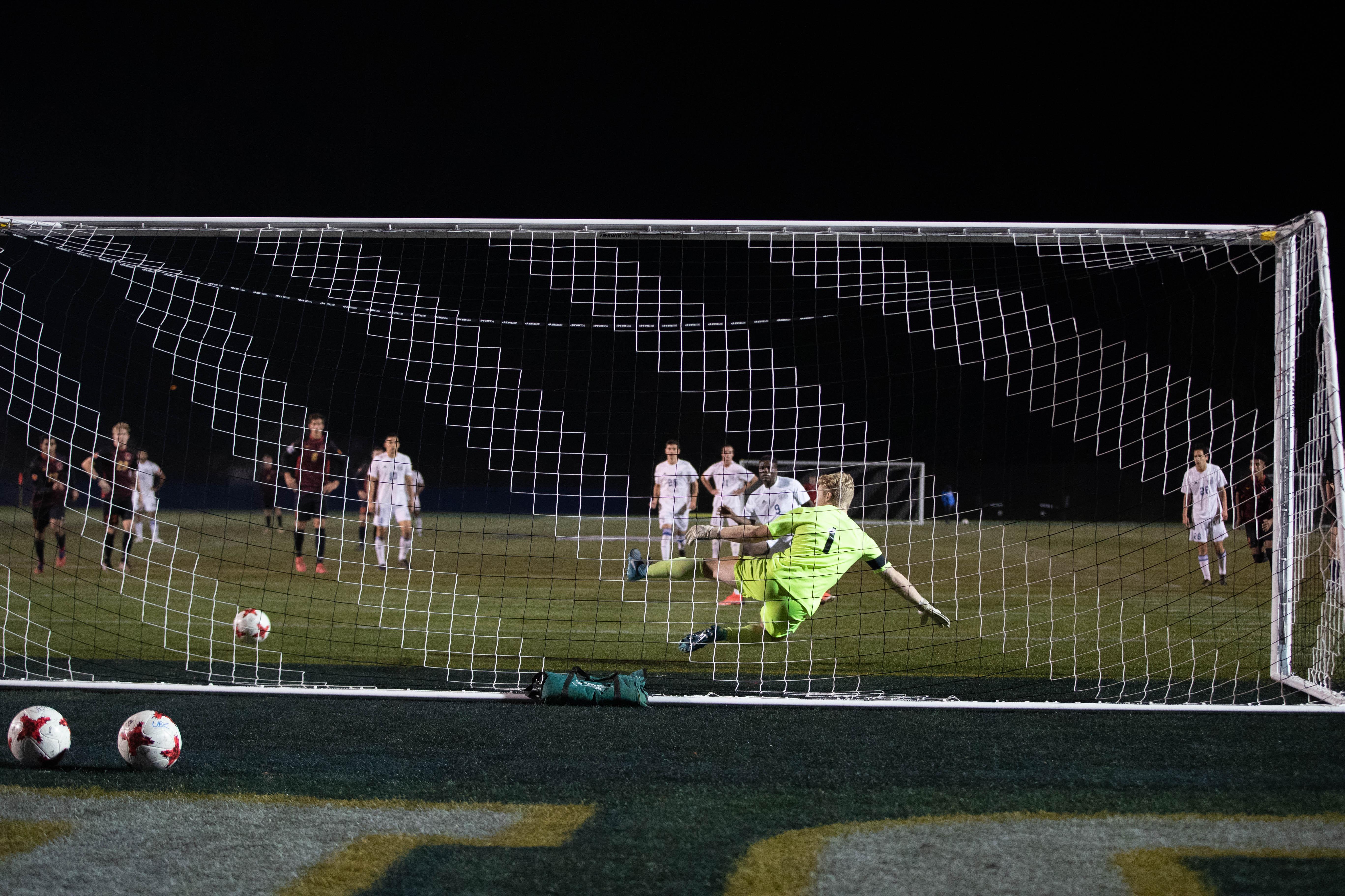 Shumbusho's penalty kick gave the T-Birds a 1–0 lead.