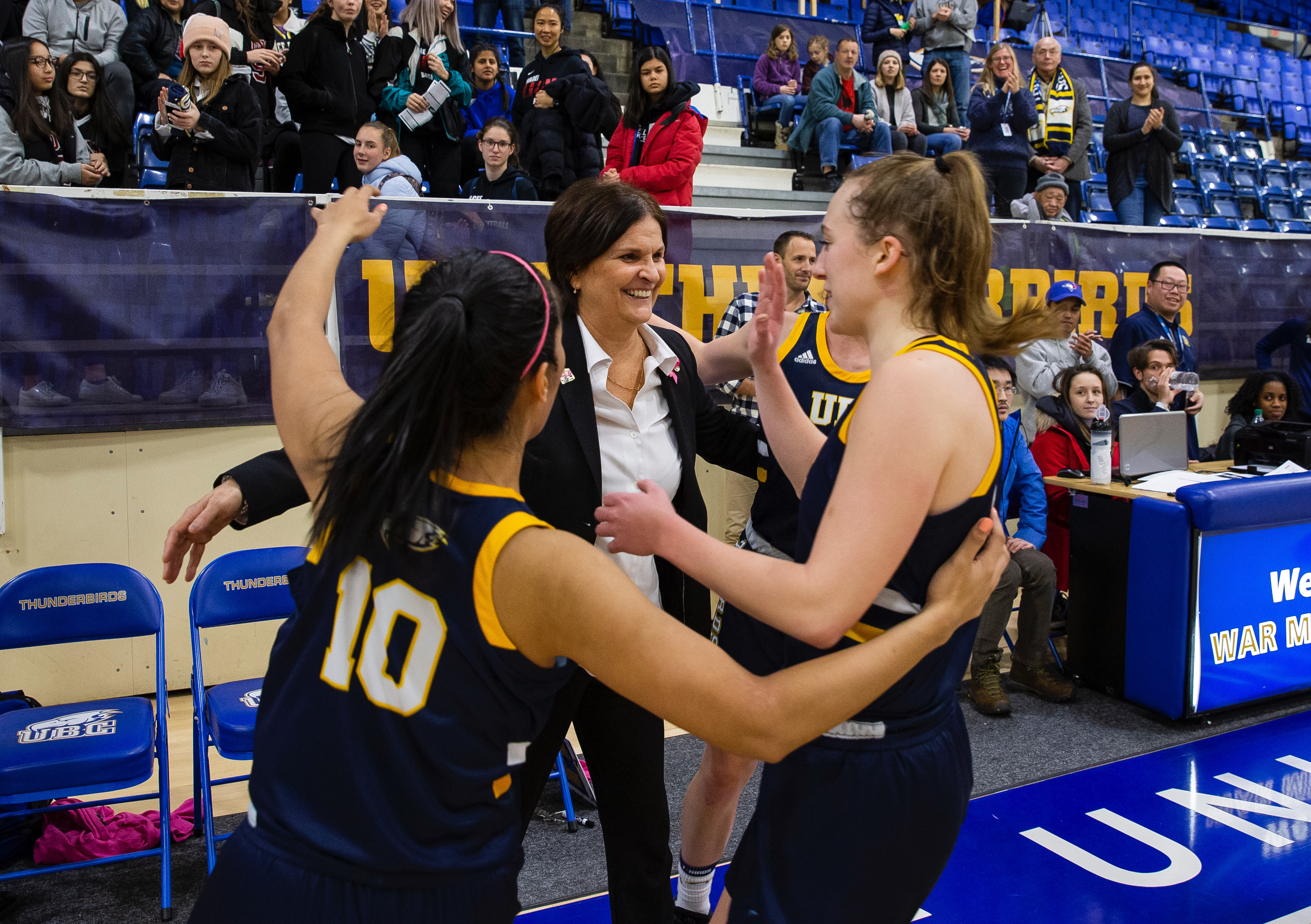 Coach Huband has a 509-273 overall record at UBC.