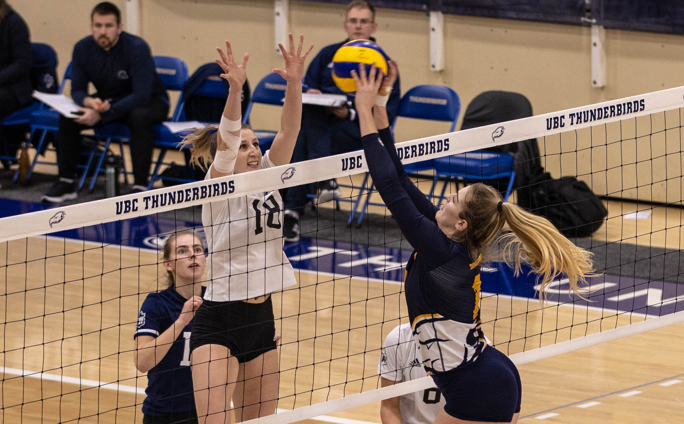 After suffering a double defeat to Trinity Western last week, the T-Birds rebounded against Regina.