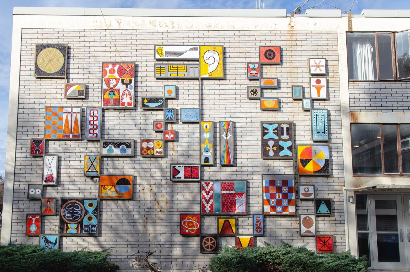 "The mural ""Symbols for Education"""