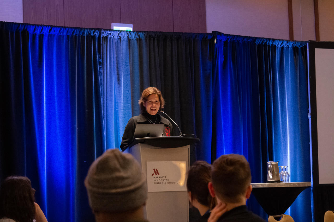 Dr. Candis Callison, associate professor at UBC School of Journalism, was our January 10 keynote speaker.