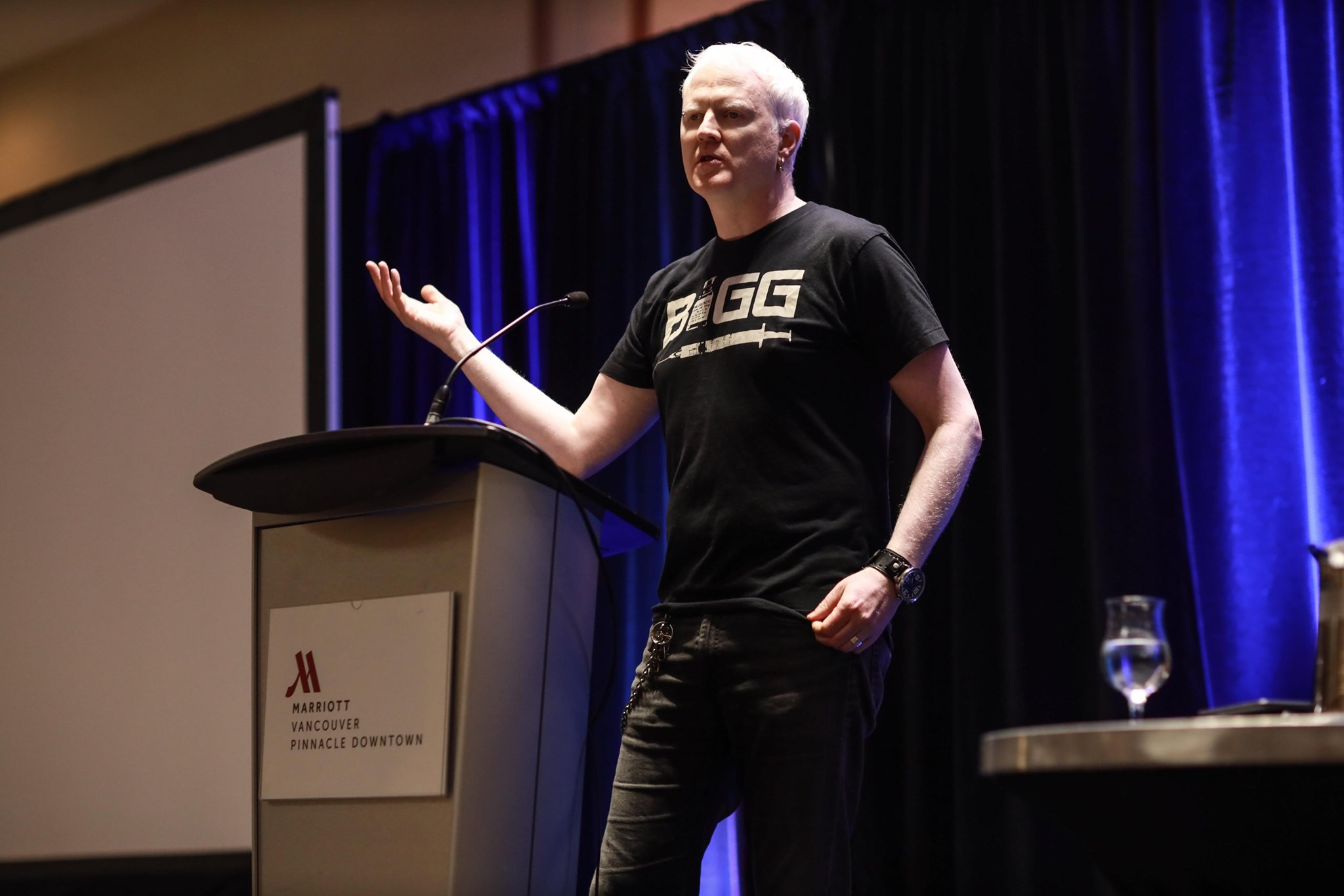 Garth Mullins, host of Crackdown podcast, was our January 9 keynote speaker.