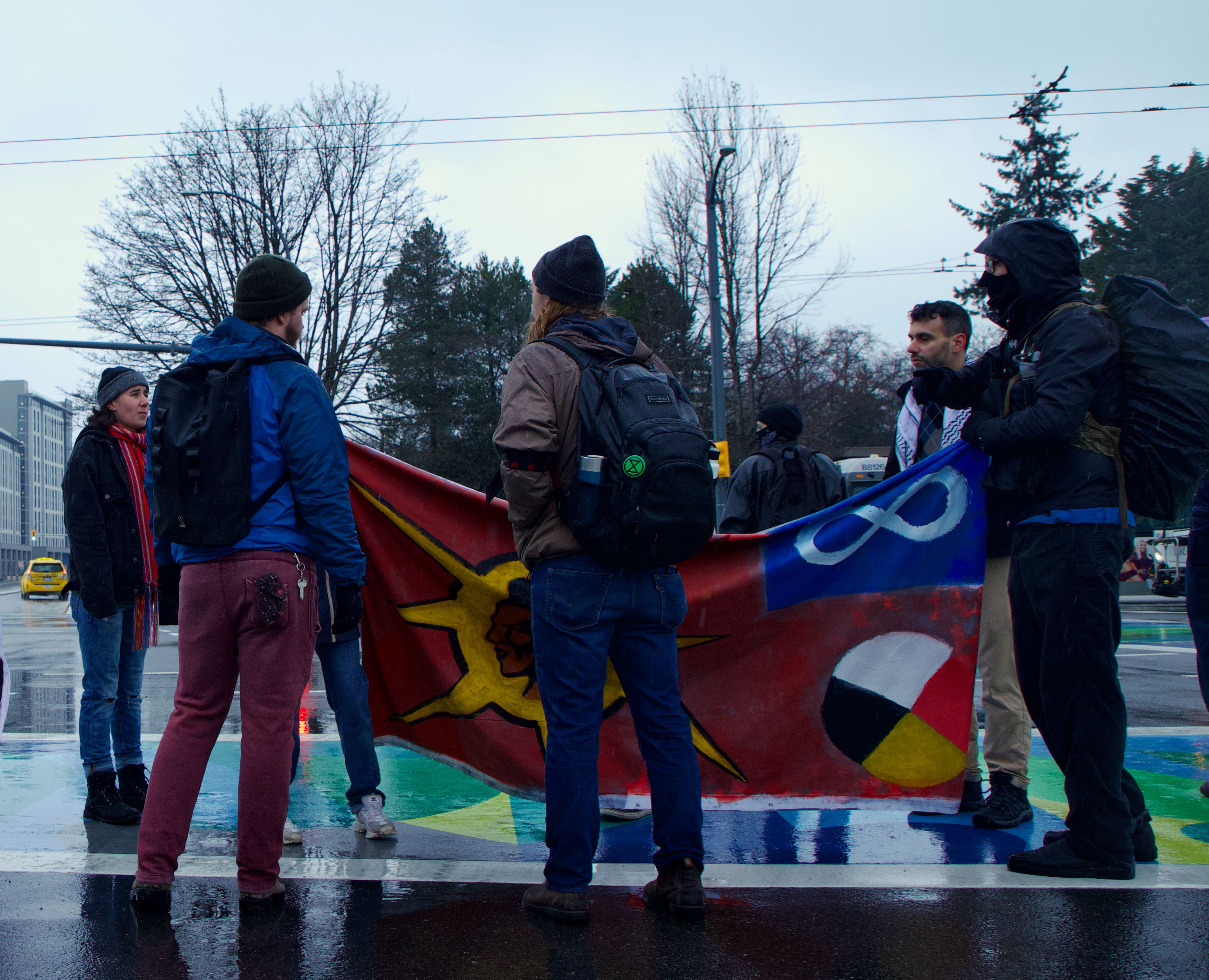 Demonstrators say the blockade forces people to think about what's going on in Wet'suwet'en territory.