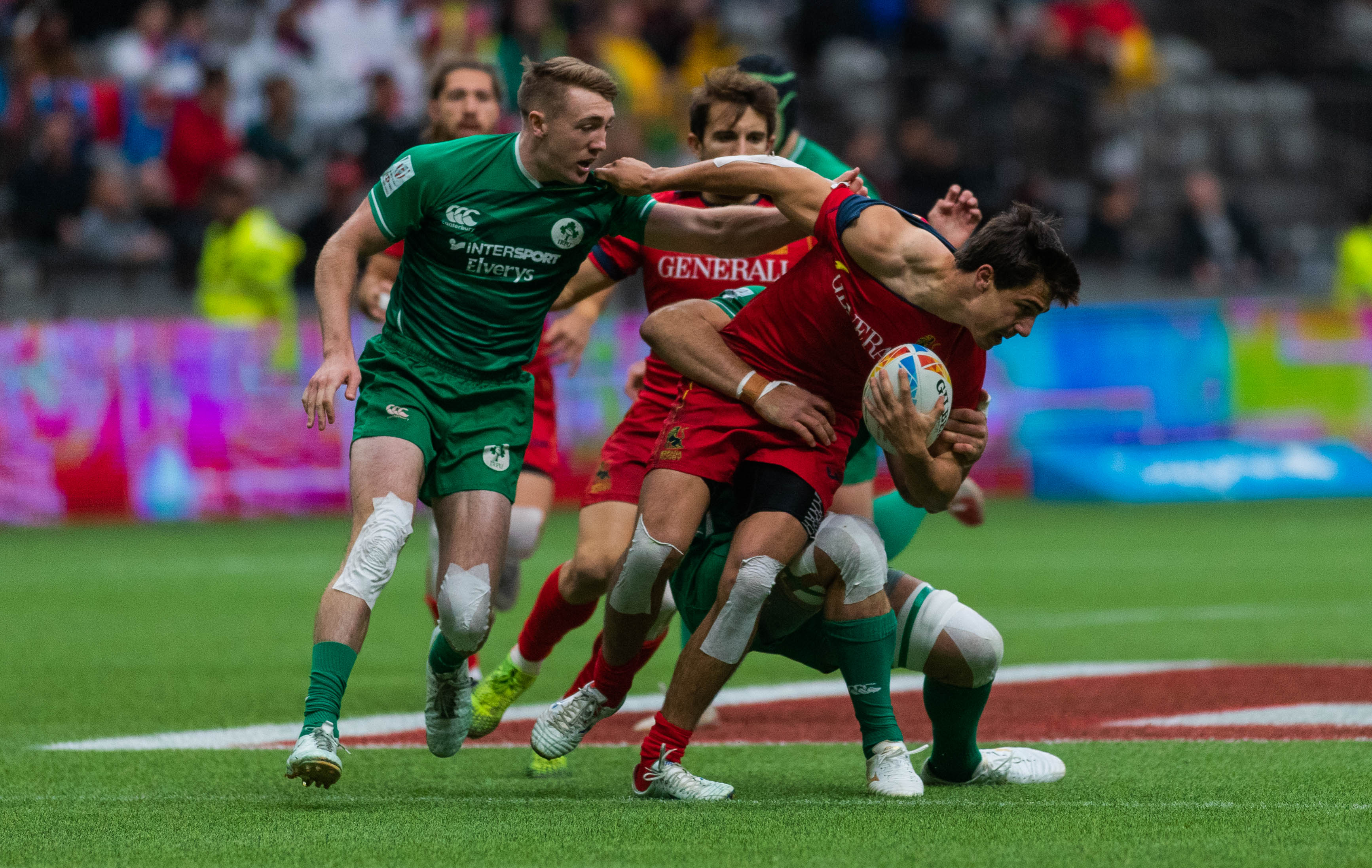 Rugby Sevens is a shortened, fast-paced code of Rugby.