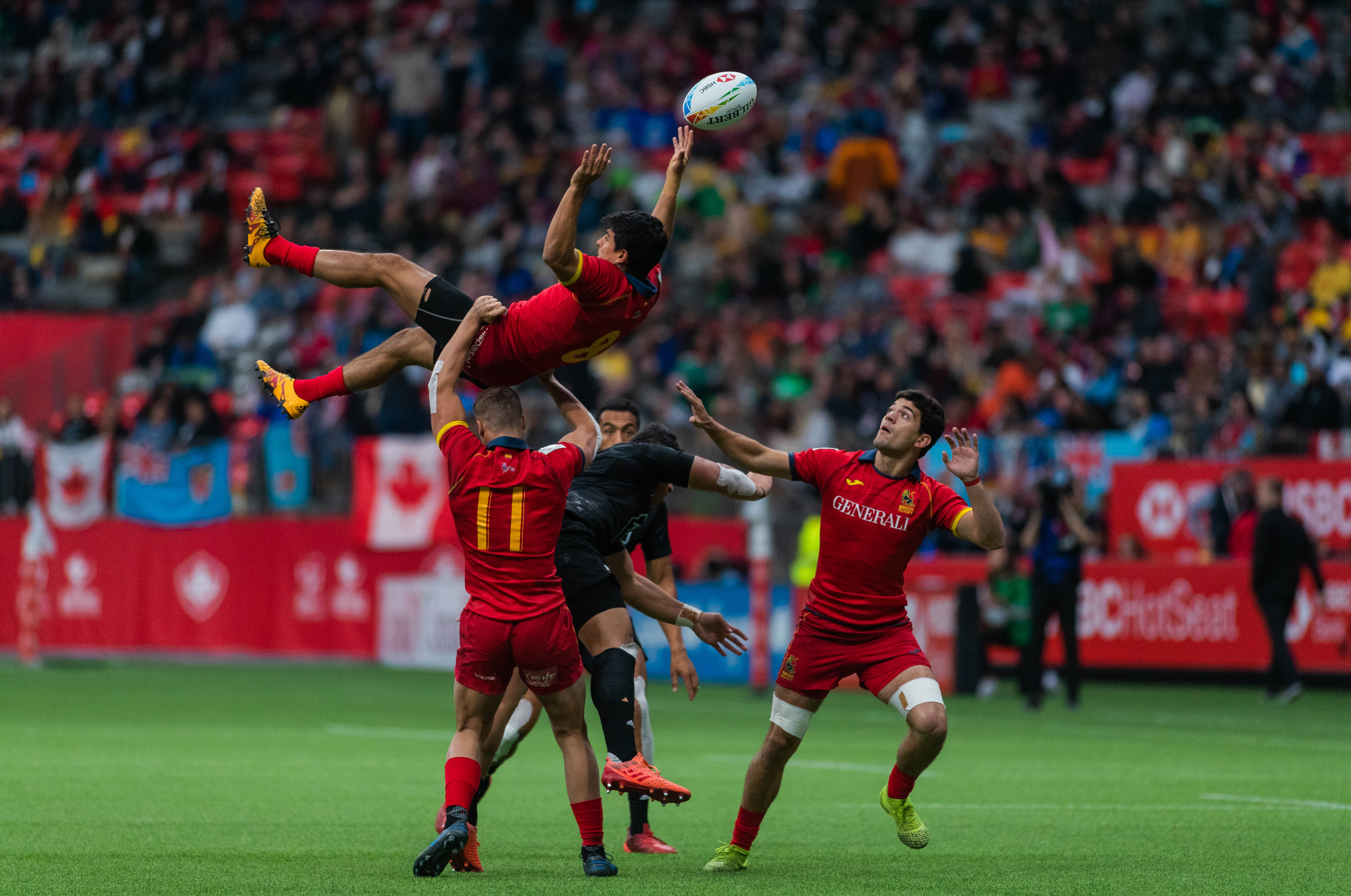 The Spanish had a keen sense for acrobatics during the tournament.