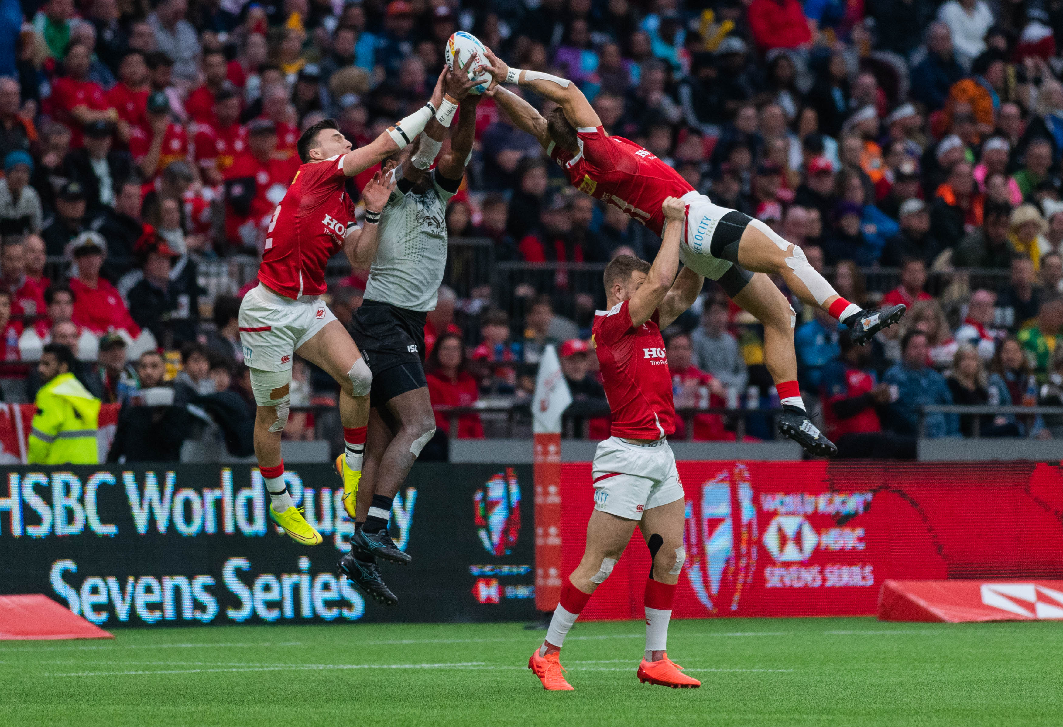 Canada in their upset against Fiji.