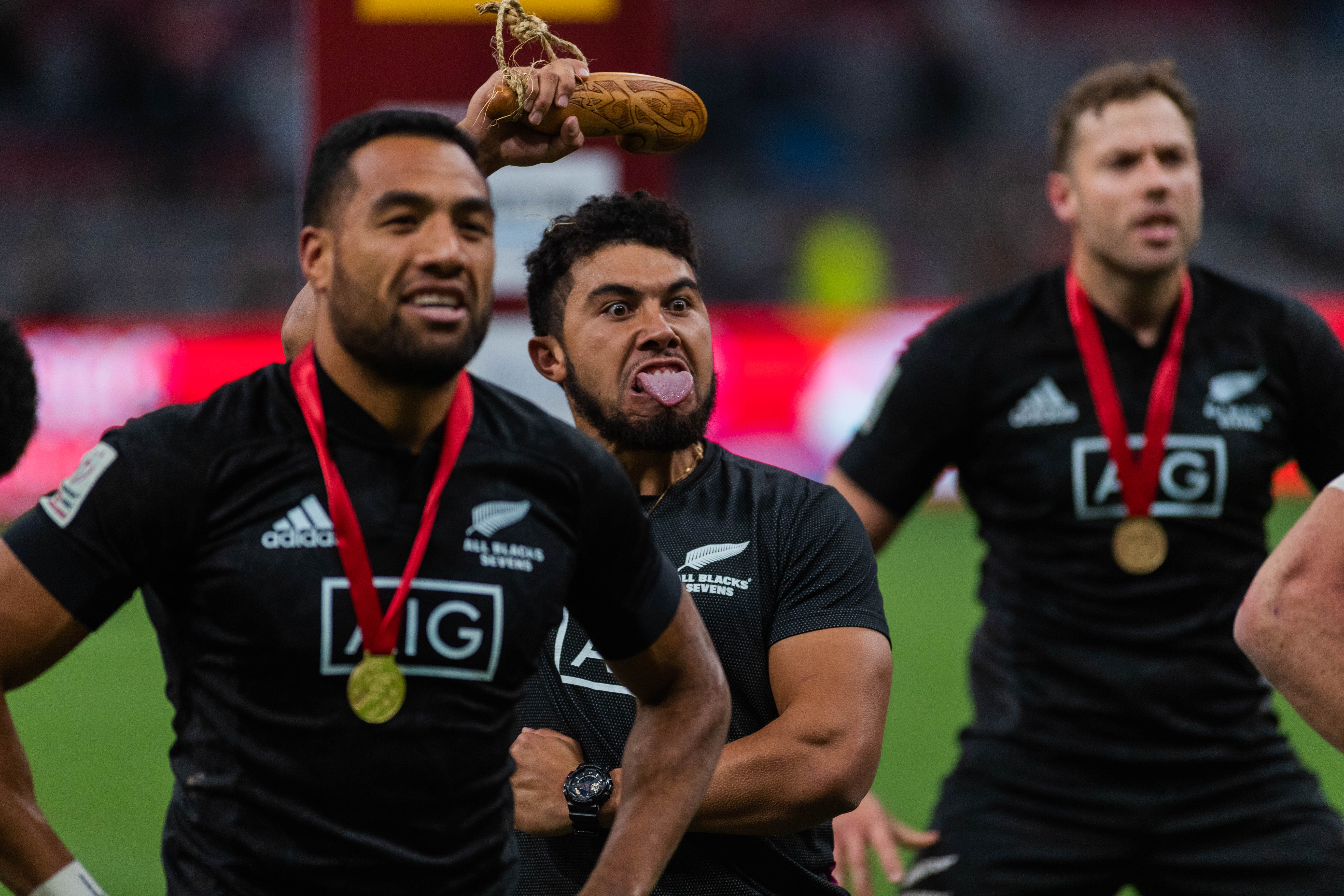 After beating Australia for the gold medal, New Zealand treated the crowd to a traditional Haka.
