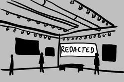 redacted art gallery
